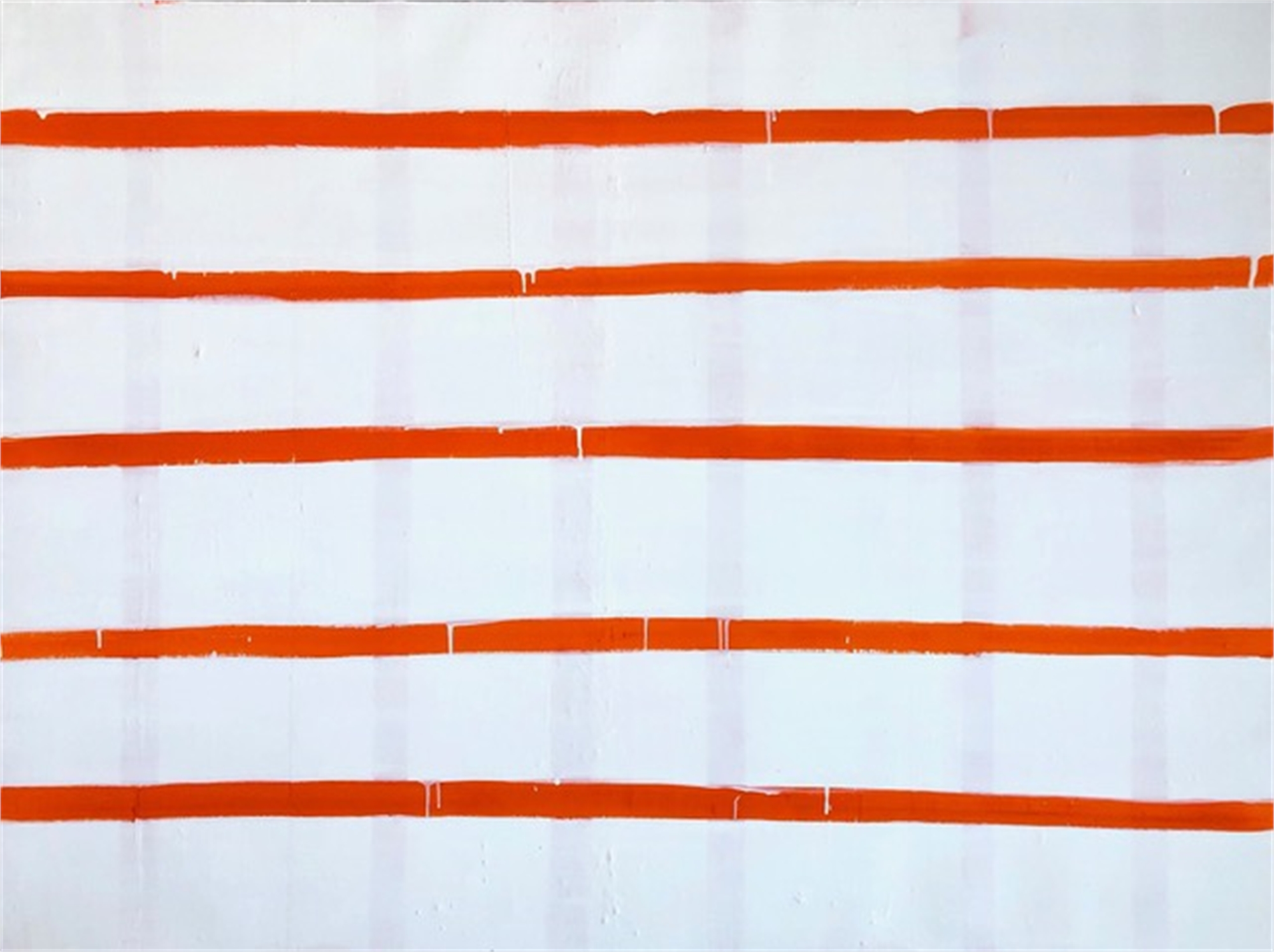 Stripe in Pyrrole Orange by Laurie Fisher