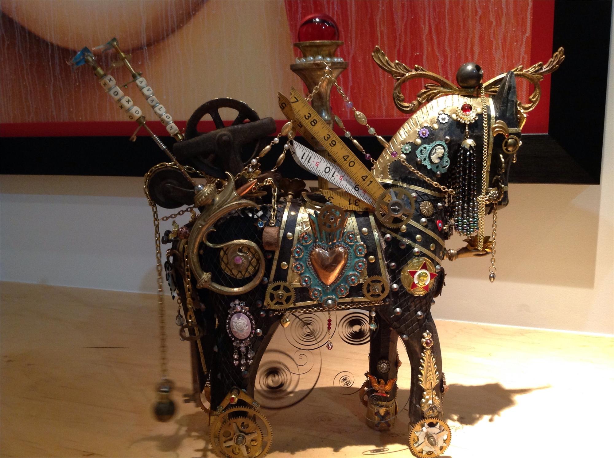 """Jeweled Time"" Small horse by John Stebila"