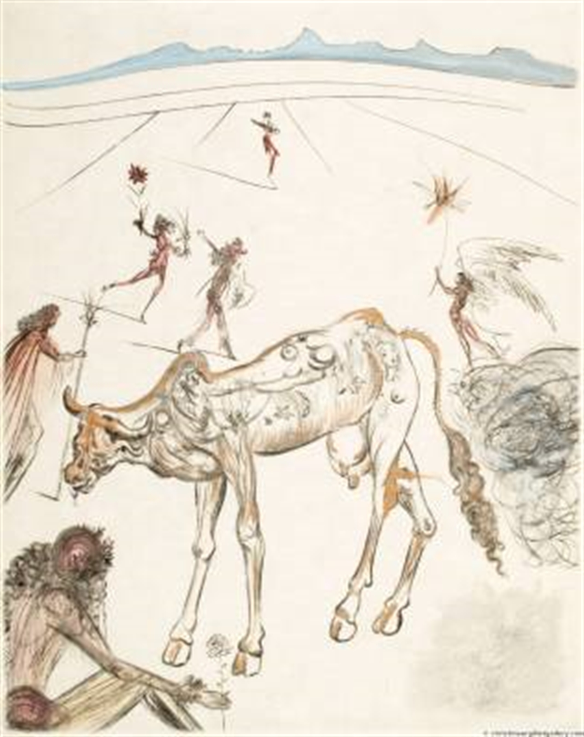 "The Hippies ""Sacred Cow"" by Salvador Dali"