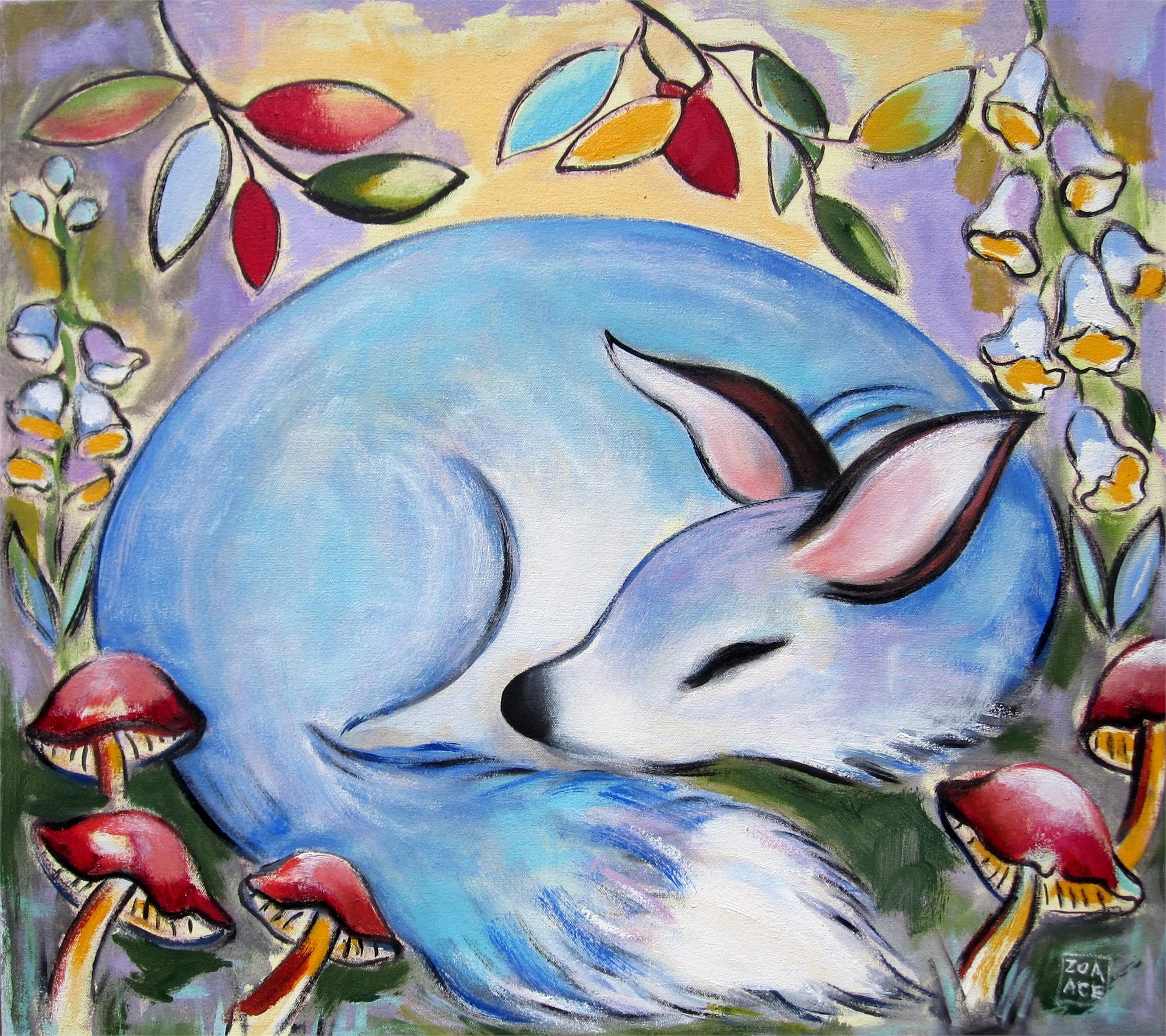 Blue Fox by Zoa Ace