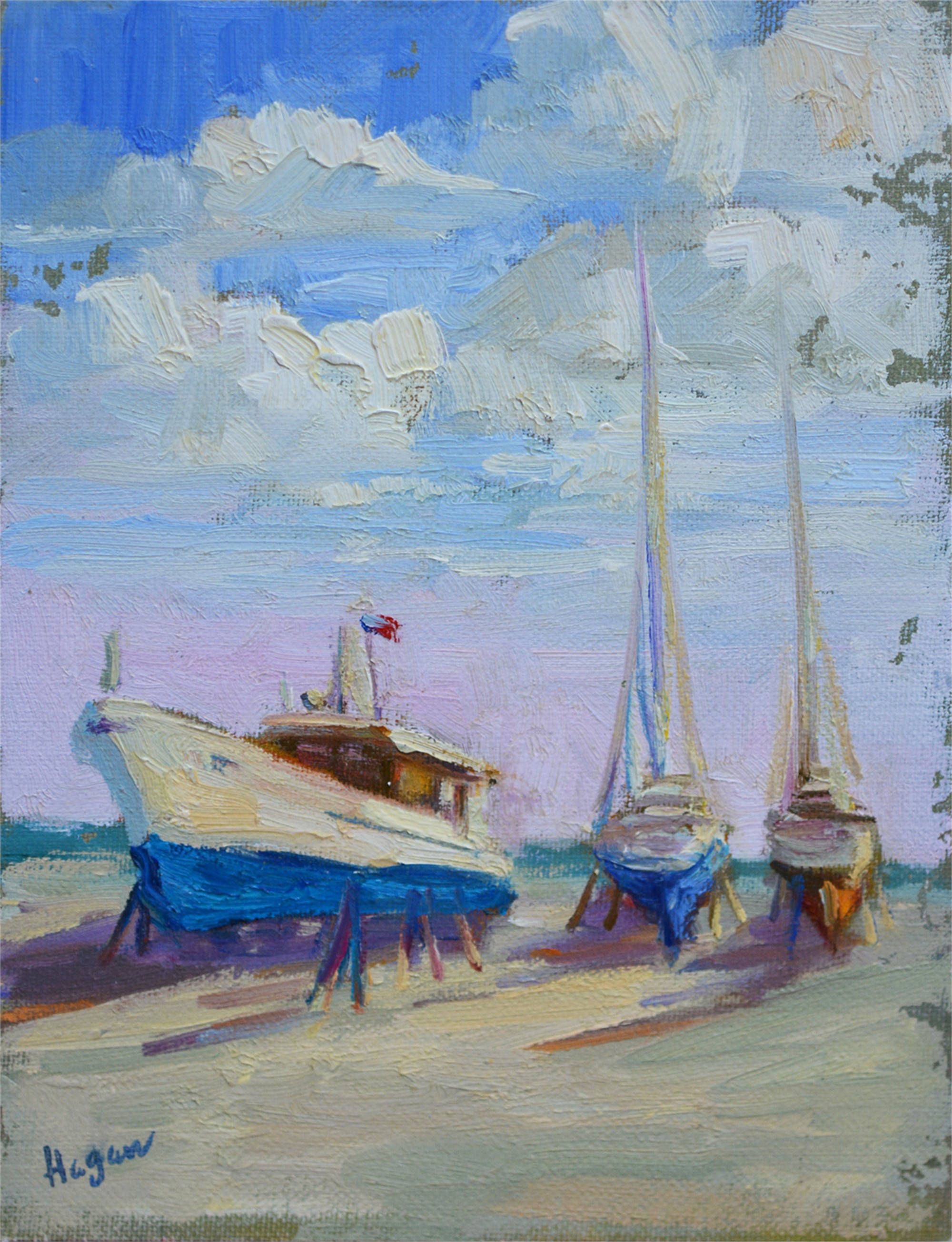 Boatyard Blues by Karen Hewitt Hagan