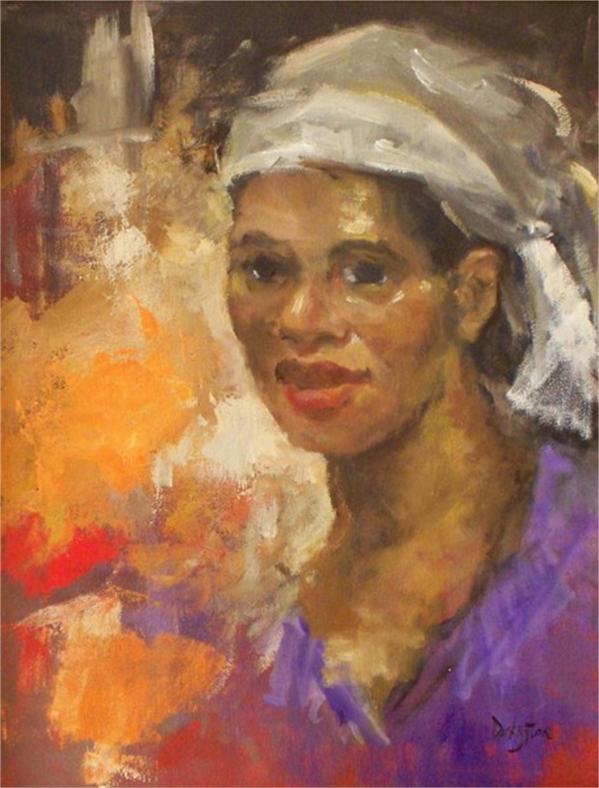 Woman with Purple Blouse by Jim Darlington