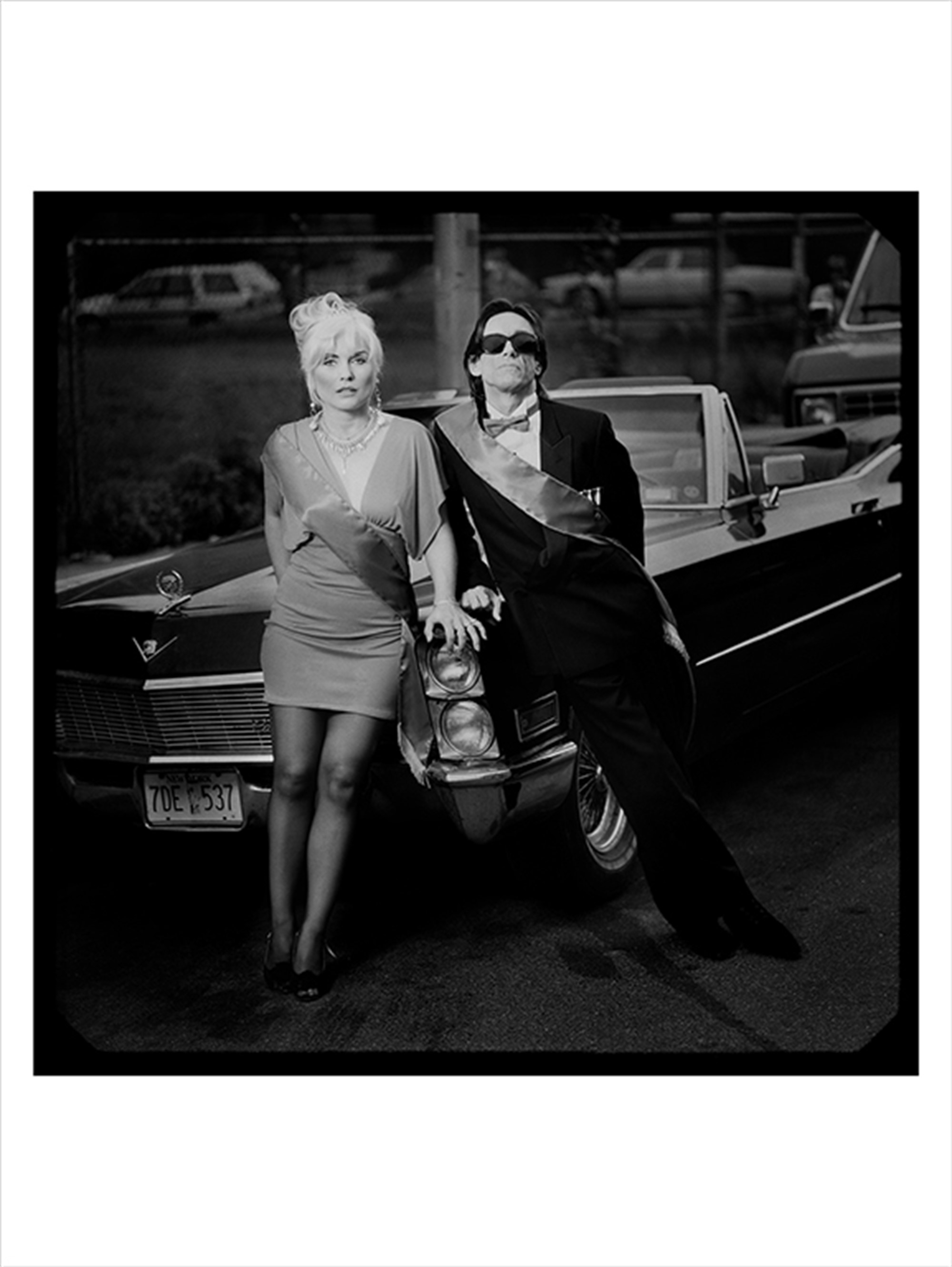 90107 Debbie Harry and Iggy Pop On the Car BW by Timothy White