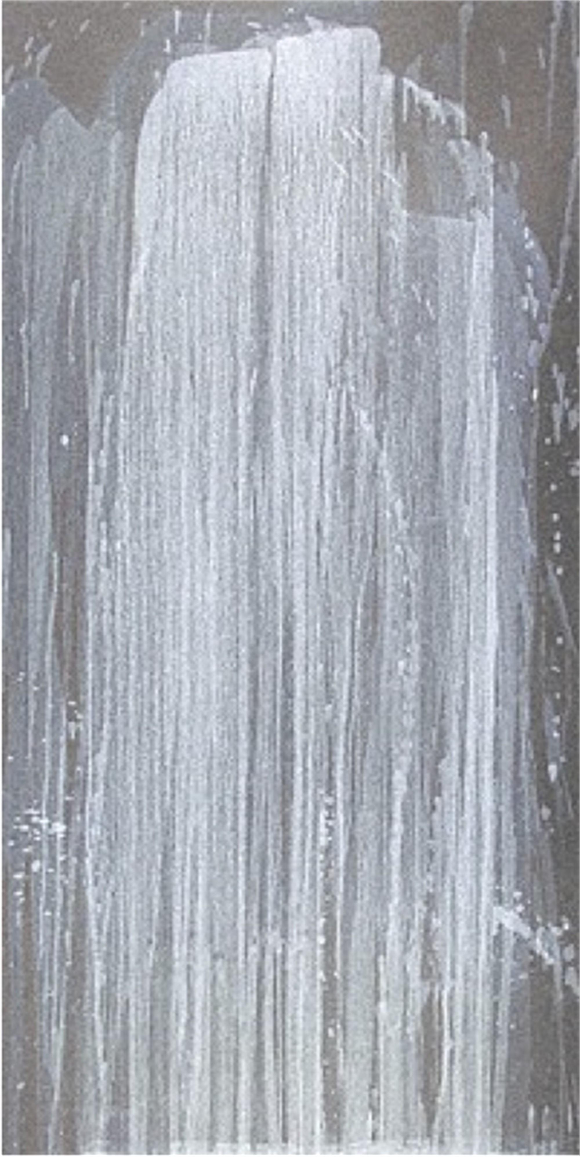 Silver Waterfall by Pat Steir