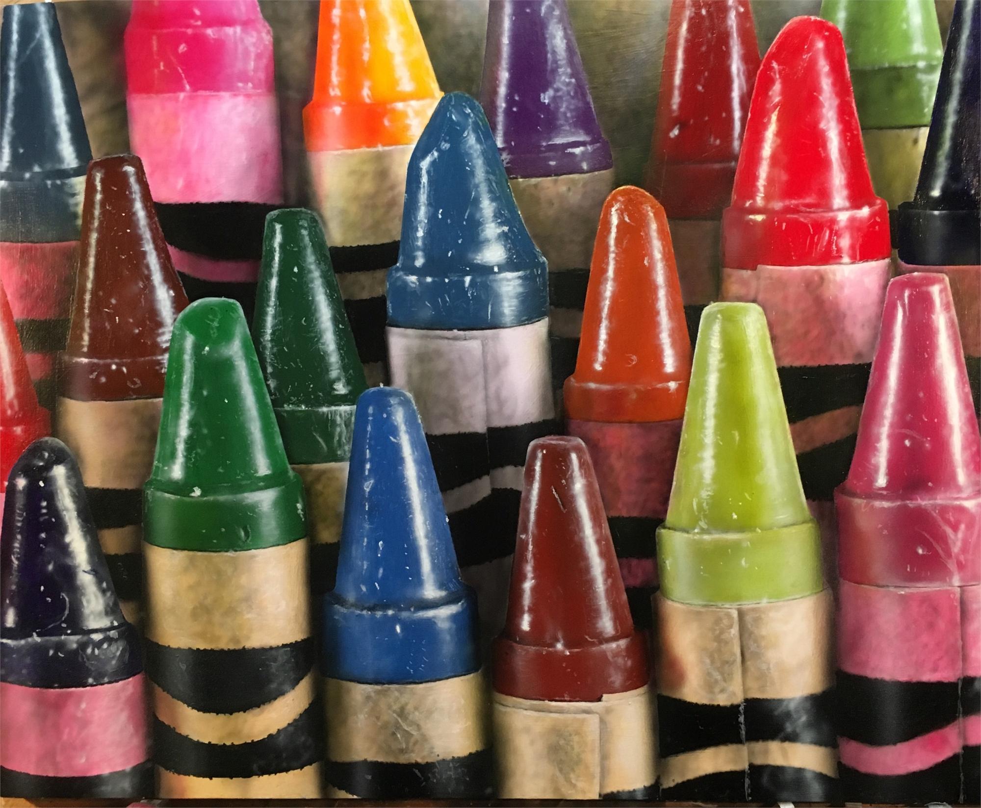 19 Crayons by Cesar Santander