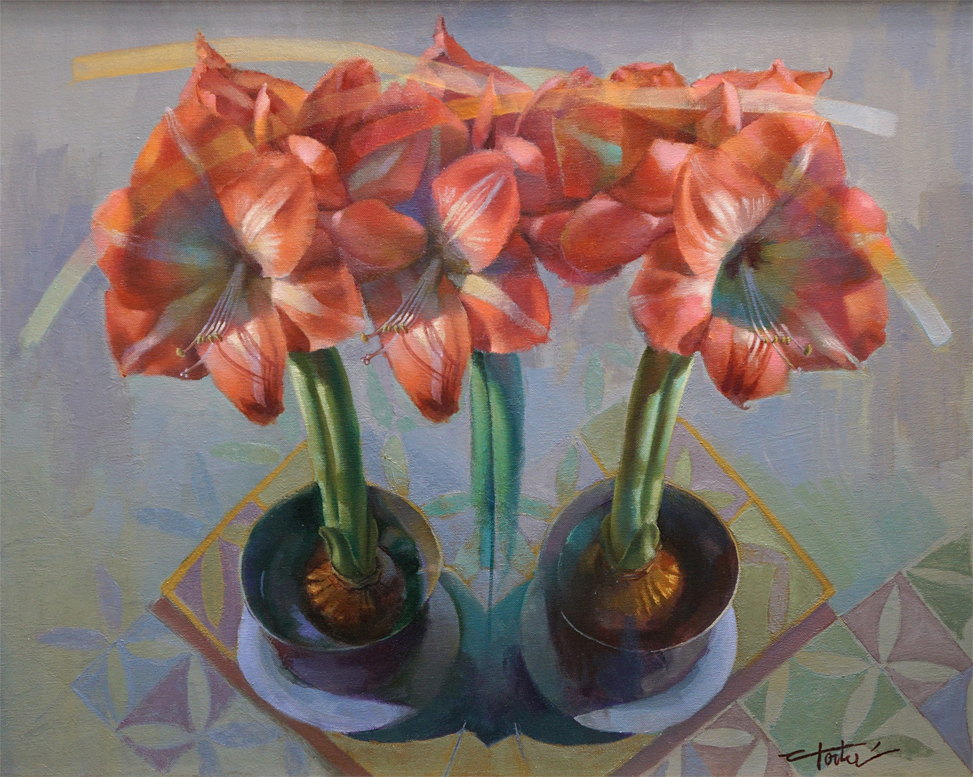 Amaryllis Duo by Cathy Locke