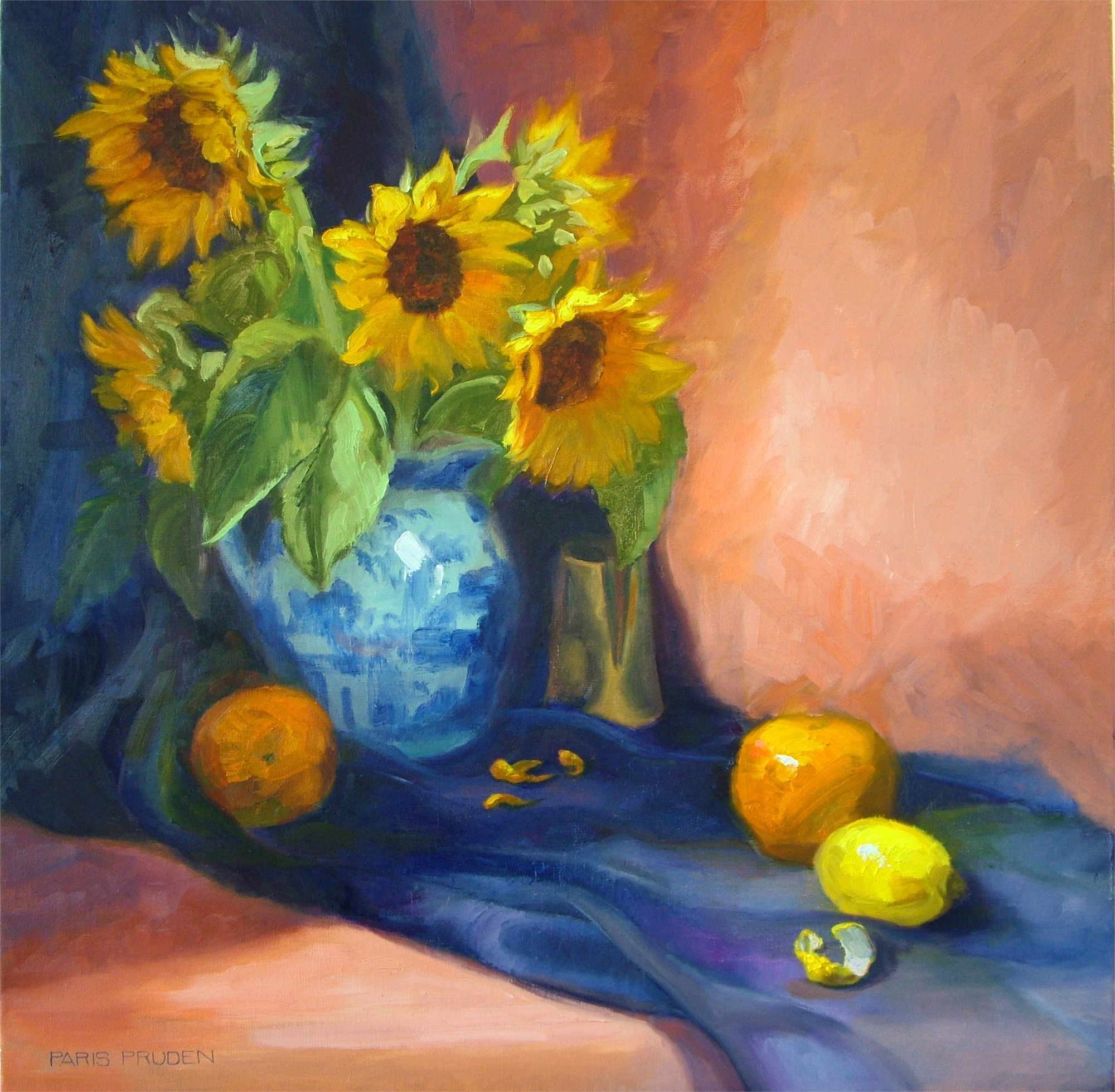 Sunflowers and Citrus by Nancy Paris Pruden