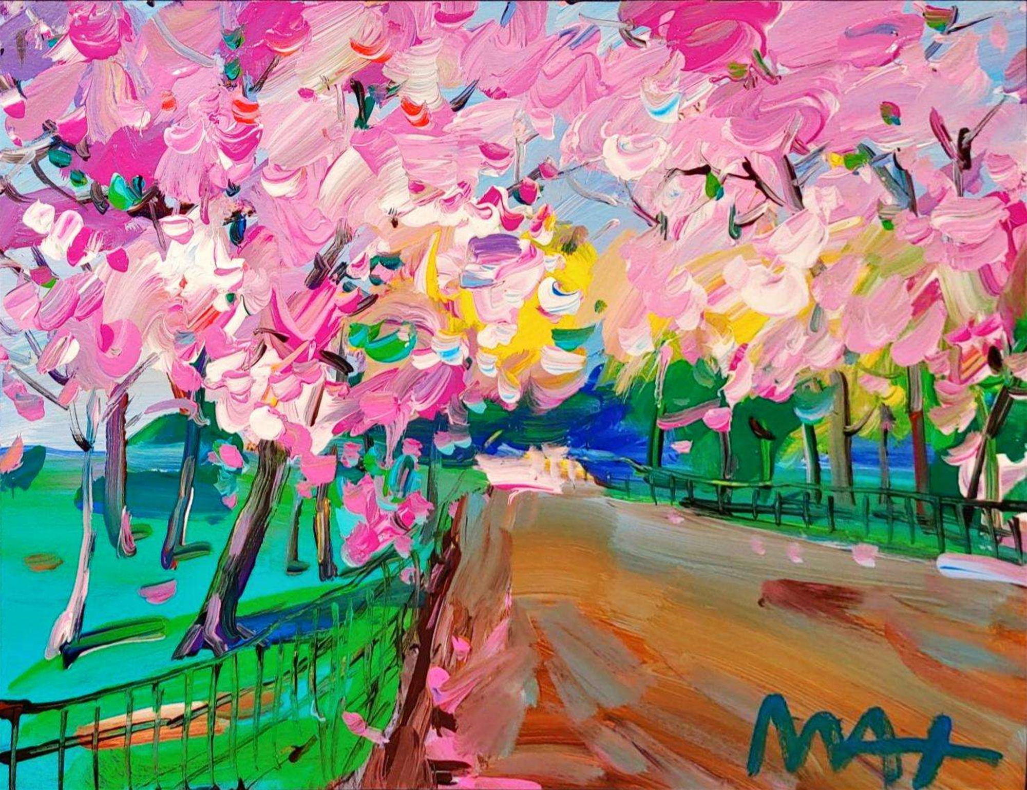 FOUR SEASONS II: SPRING (CENTRAL PARK) by Peter Max