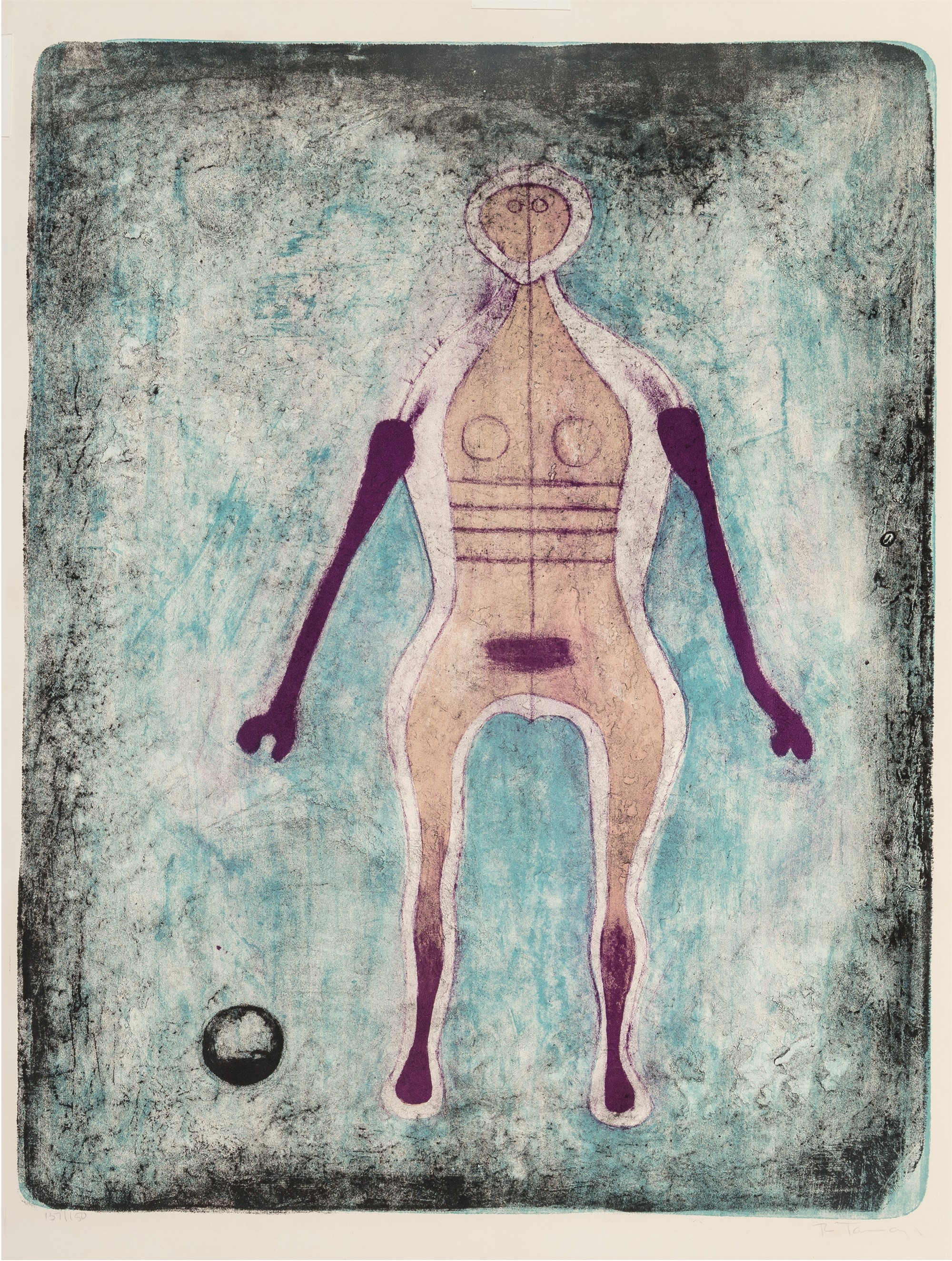 La Négresse by Rufino Tamayo (1899 - 1991)