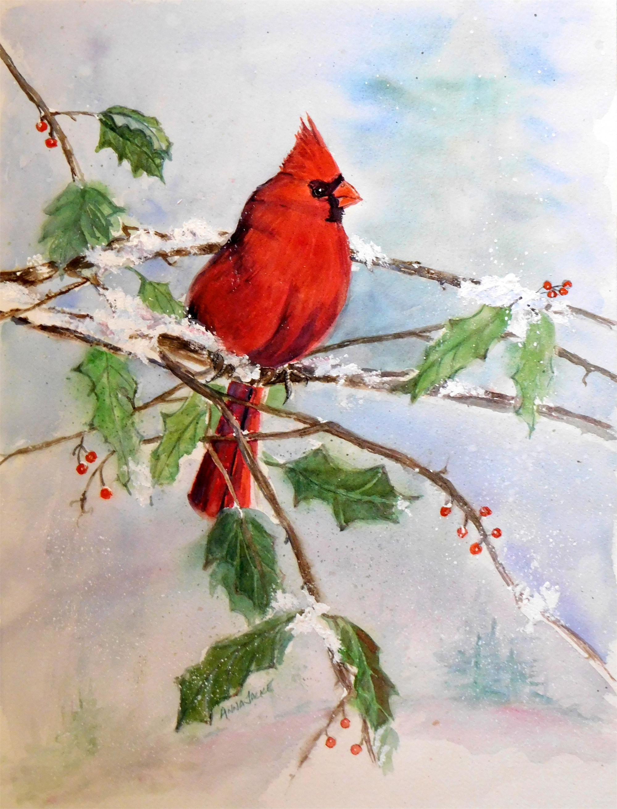 On A Snowy Perch by Anna Jacke (McMinnville, OR)