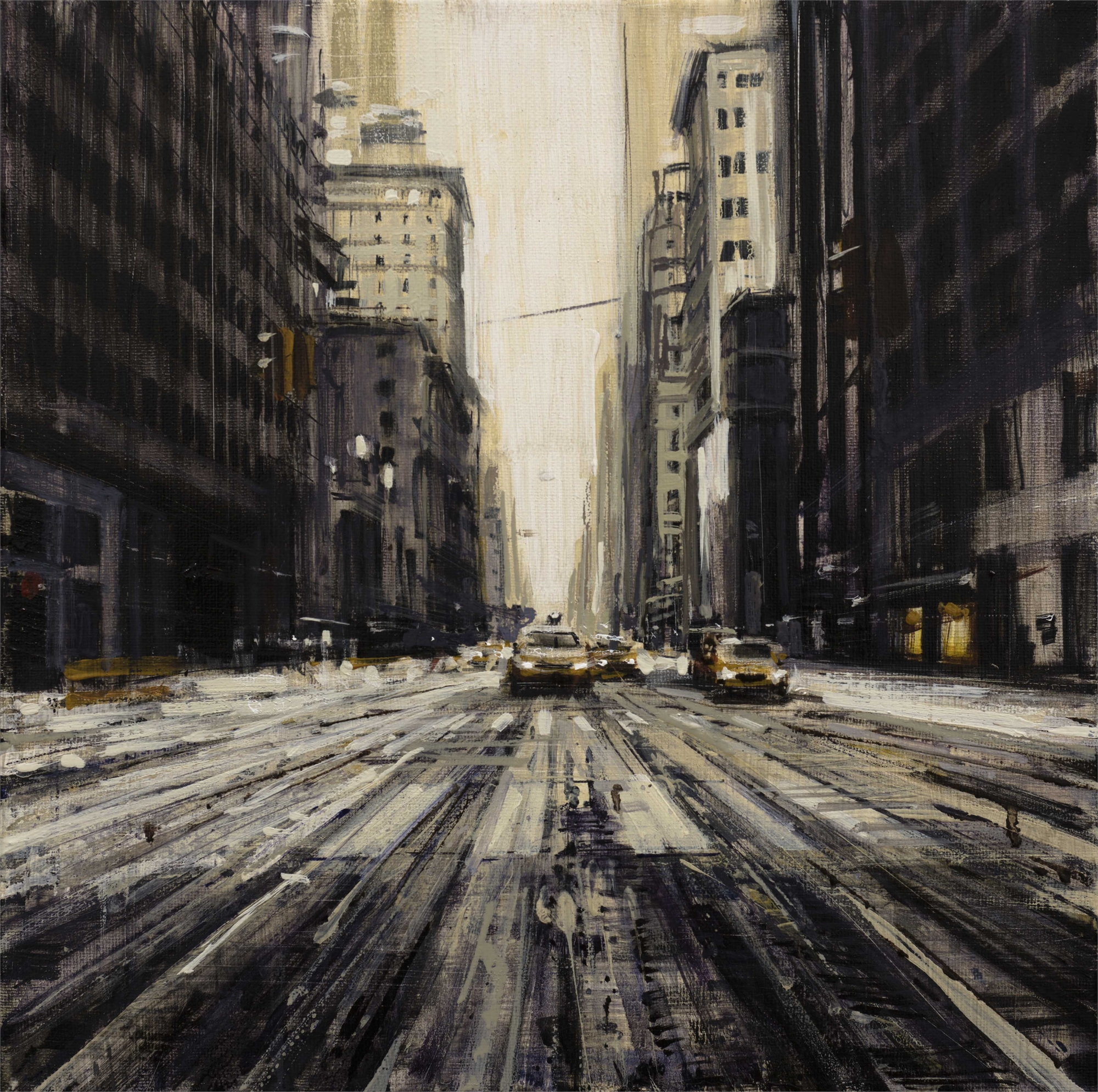 Snowy Street in NYC by Valerio D'Ospina