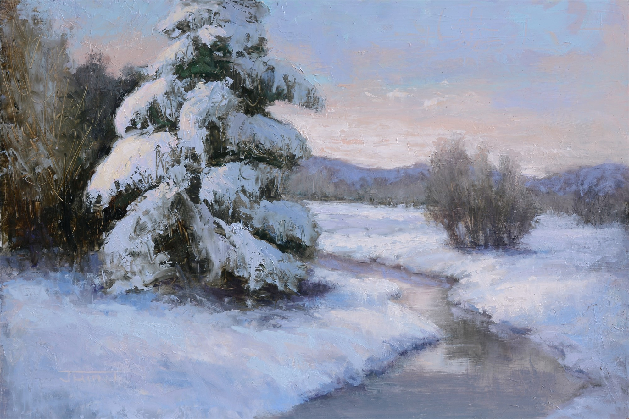 Winter Pine by Jane Hunt