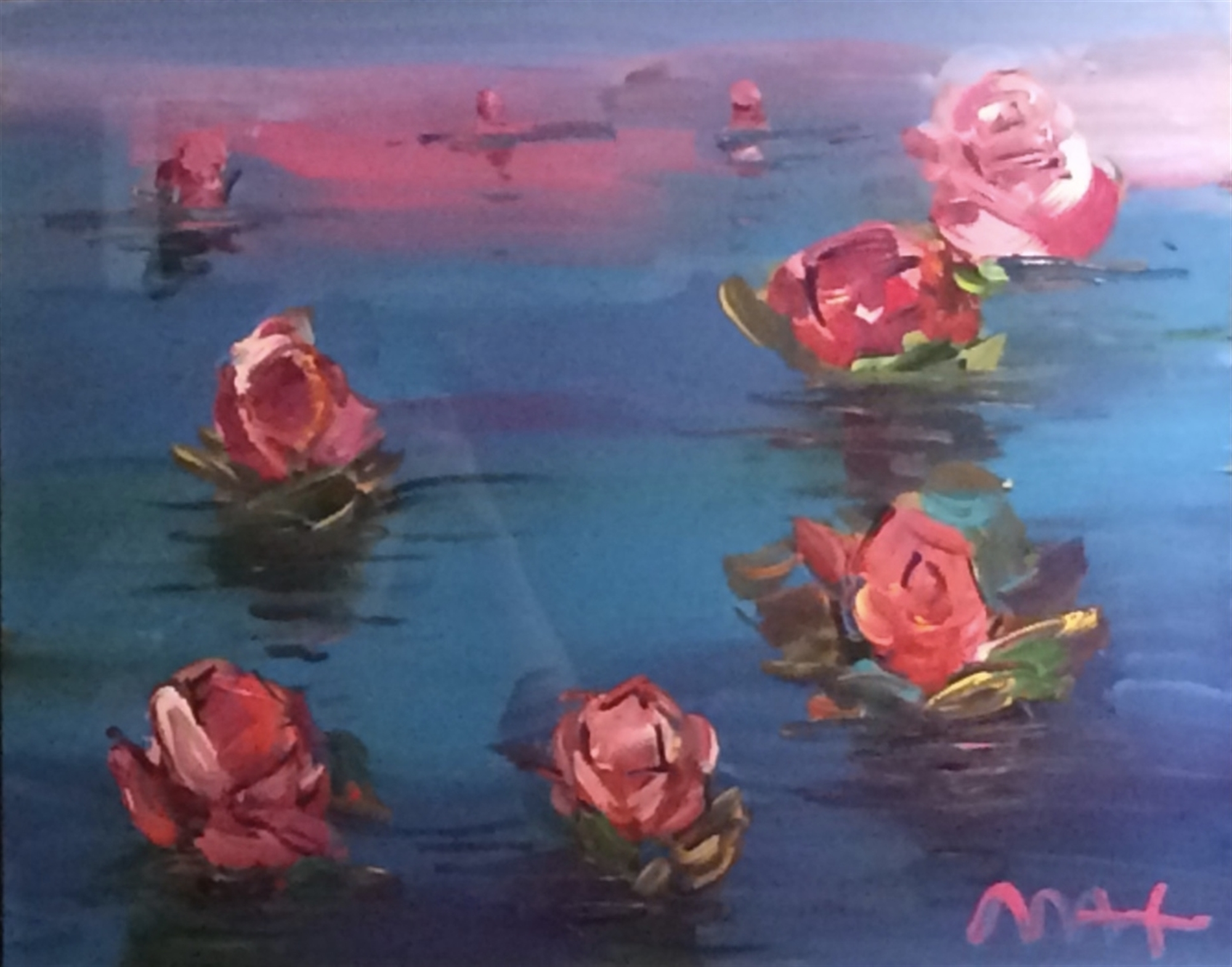 Homage to Monet: Water Lillies by Peter Max