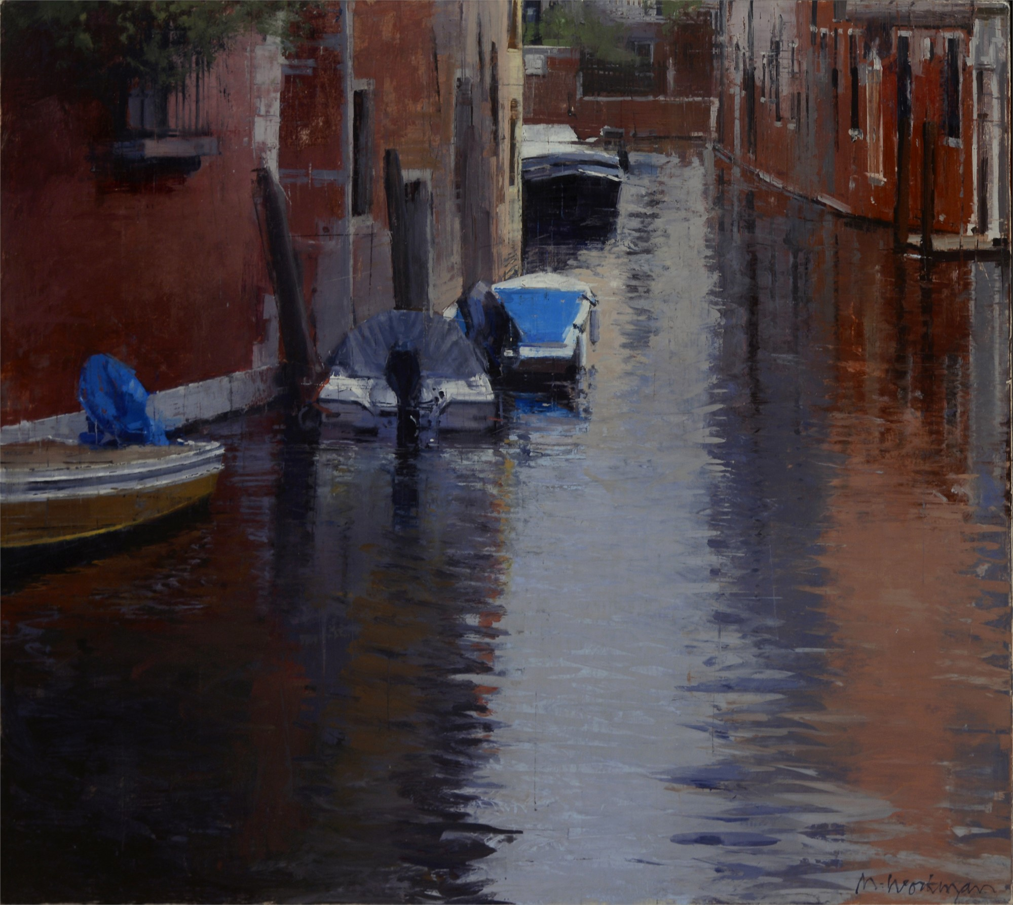 Venice with Rain 1 by Michael Workman