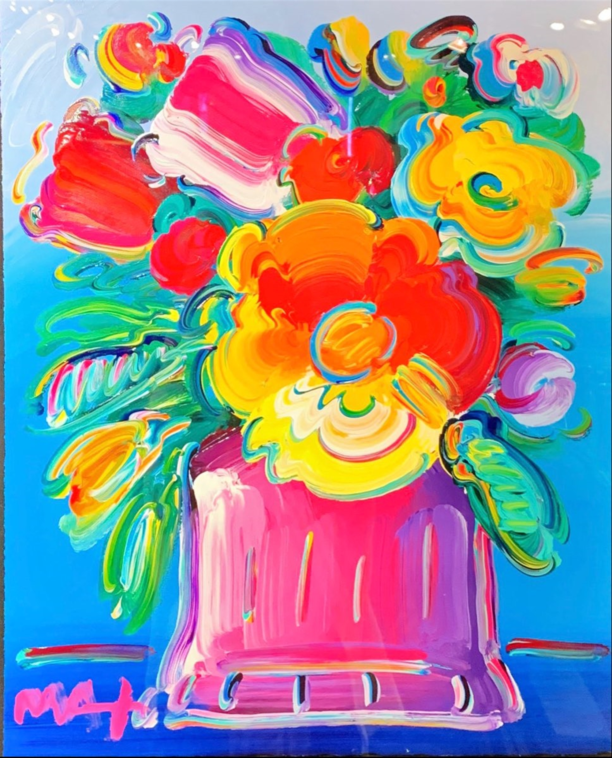 Abstract Flowers by Peter Max