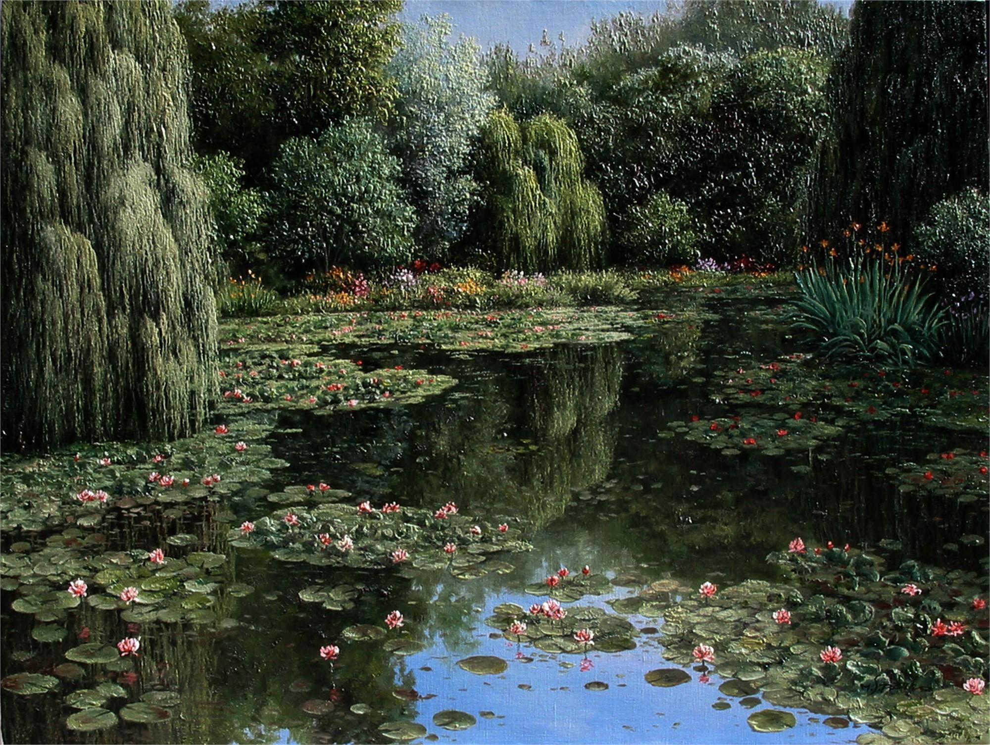 Shadows of Monet's Garden by M.S. PARK
