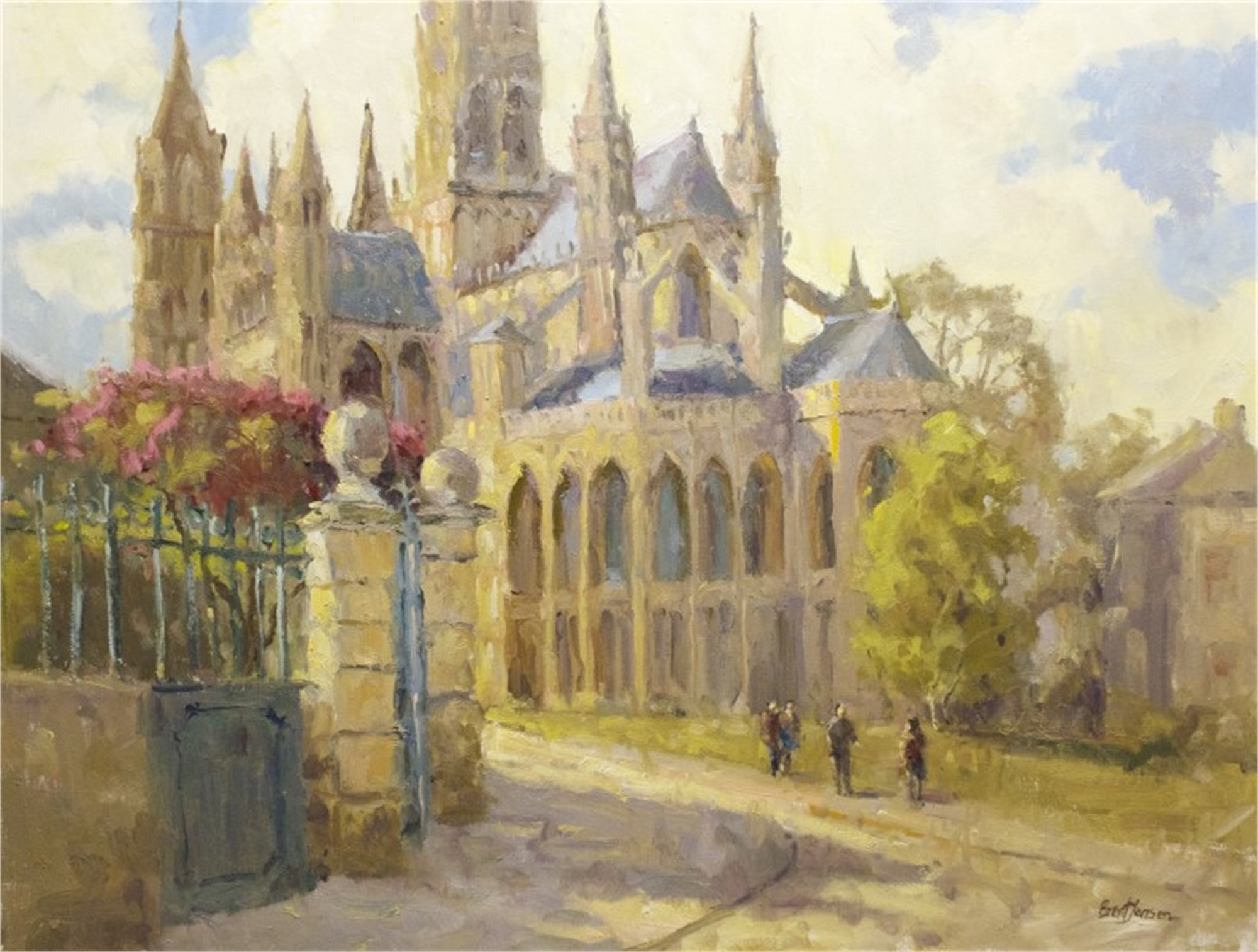 Normandy Cathedral by Brent Jensen
