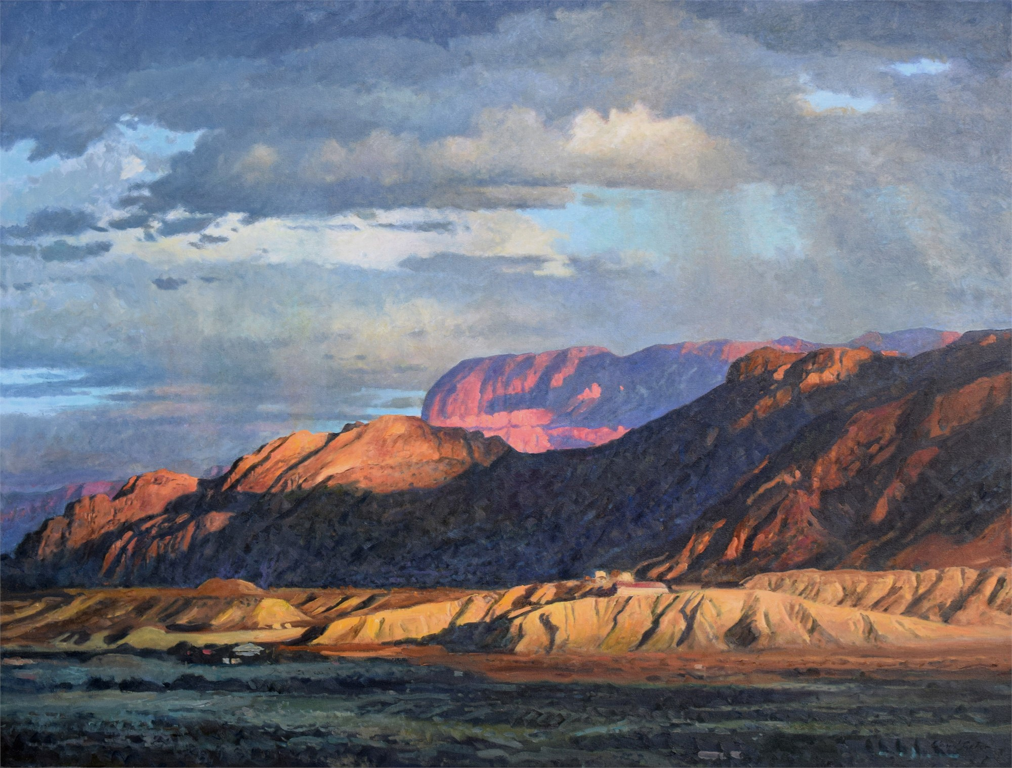 Pulliam Bluff, Late Afternoon, Big Bend by David Caton