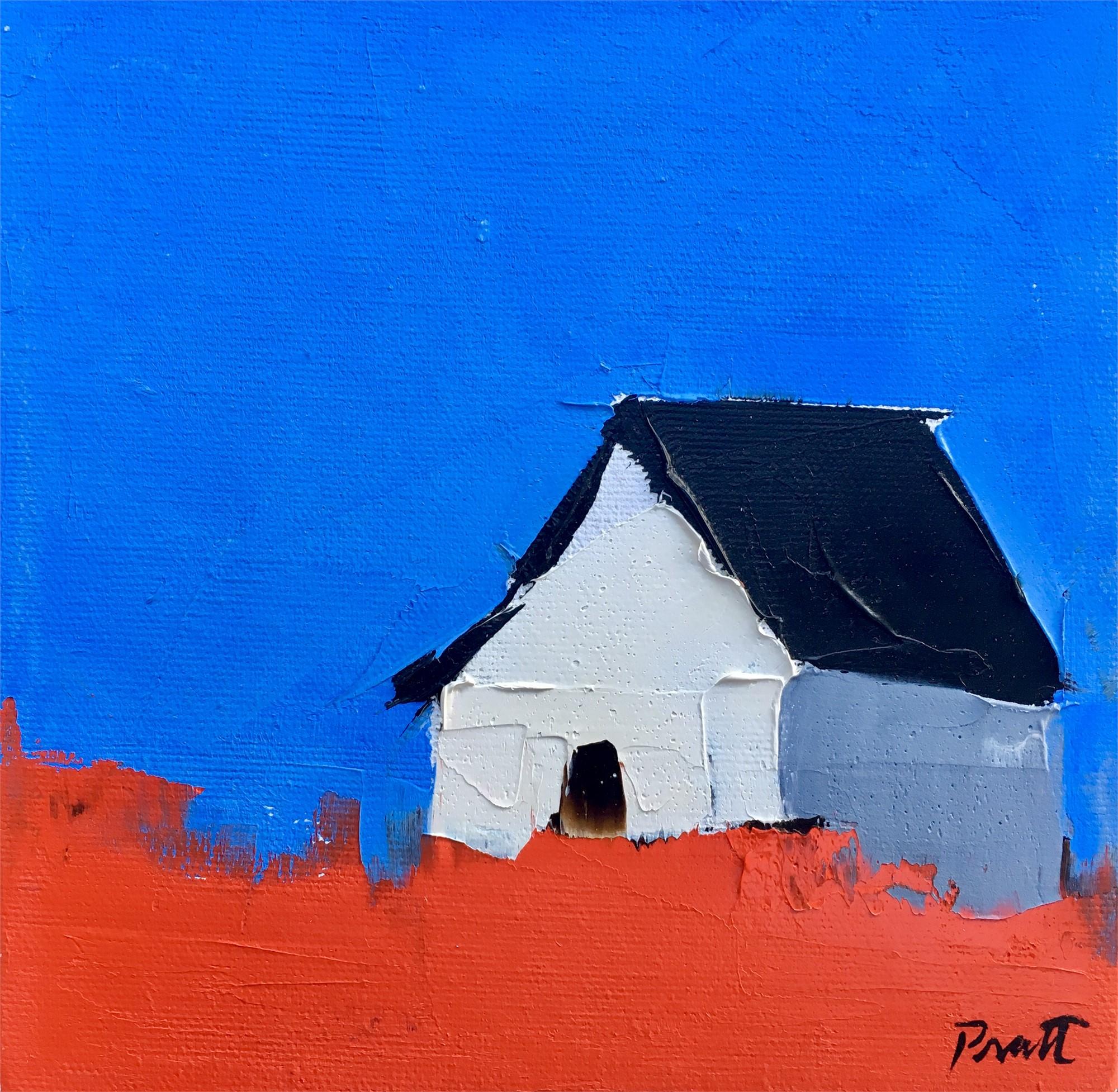 White Barn and Blue Sky by Sandra Pratt