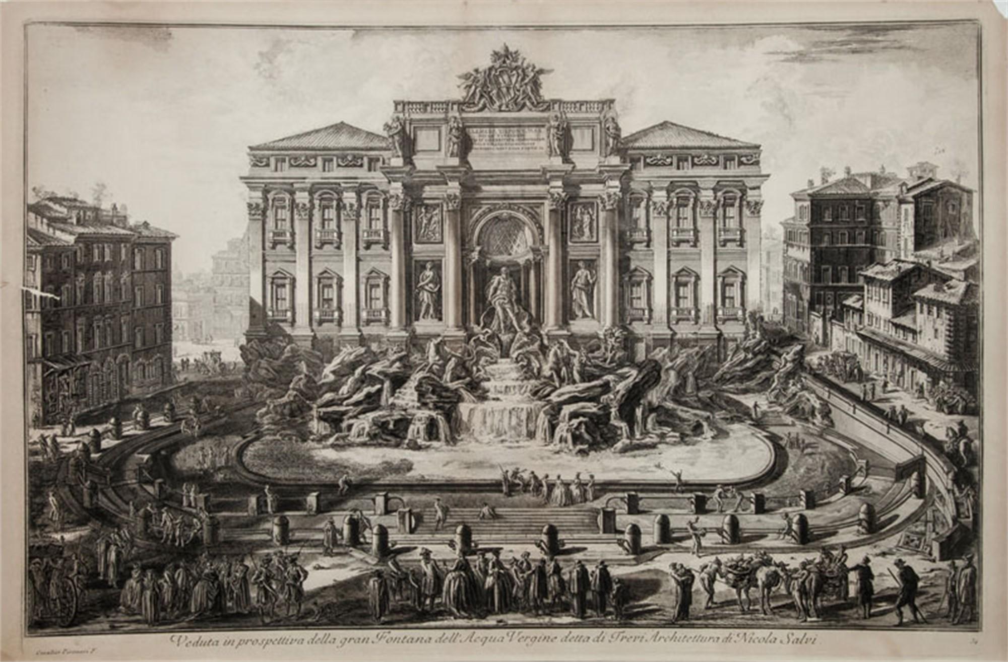 Trevi Fountain by Francesco Piranesi