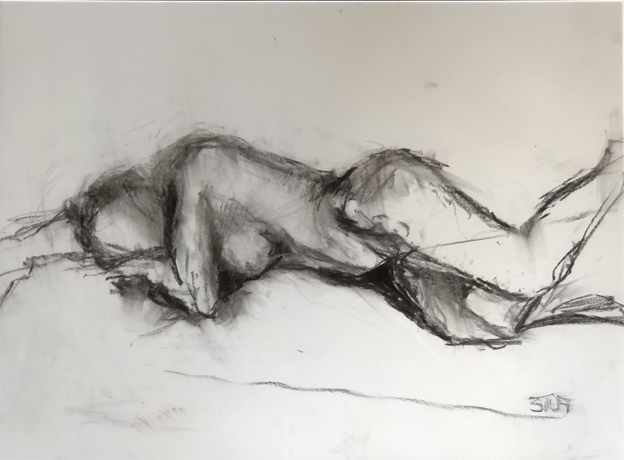 Reclining Nude Two by Susan Altman