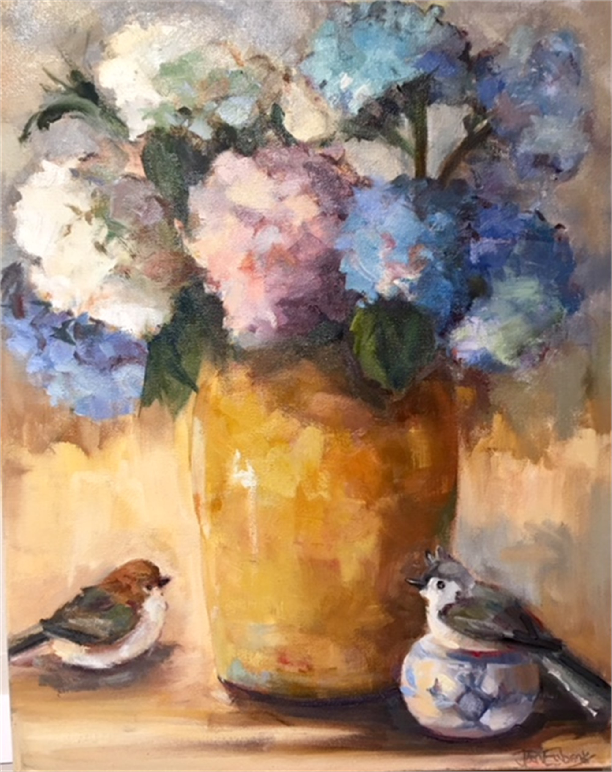 Birds and Flowers by Jan Eubanks
