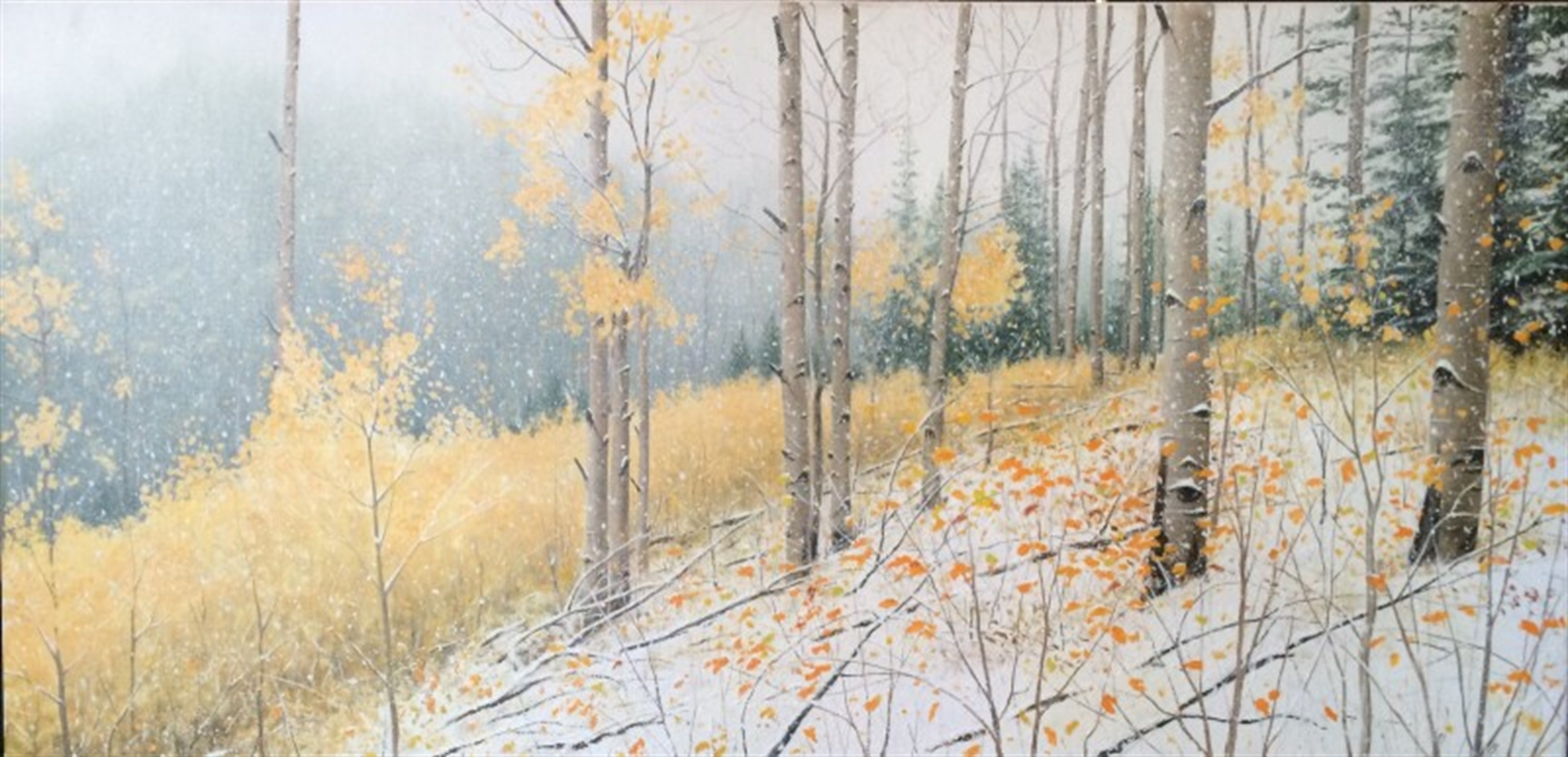 New Aspens In Winter by Alexander Volkov