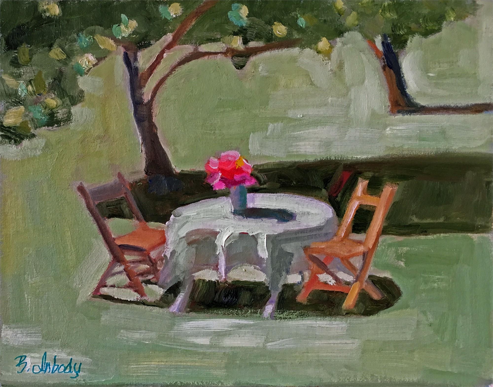 Garden Scene by B. Inbody