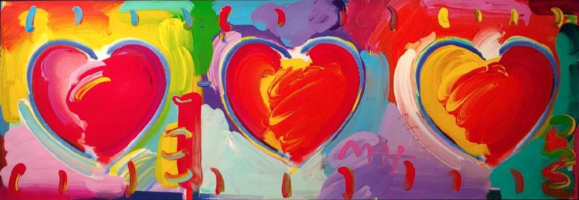 THREE HEARTS by Peter Max