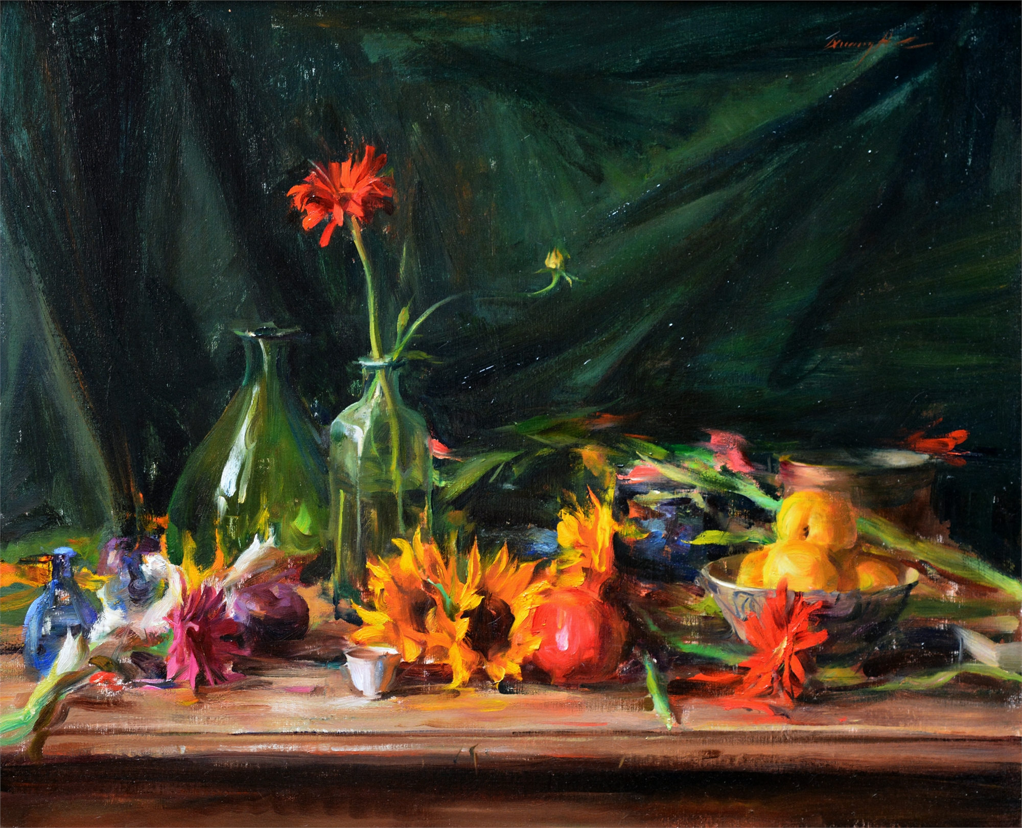 Arrangement with Primaries & Greens by Quang Ho