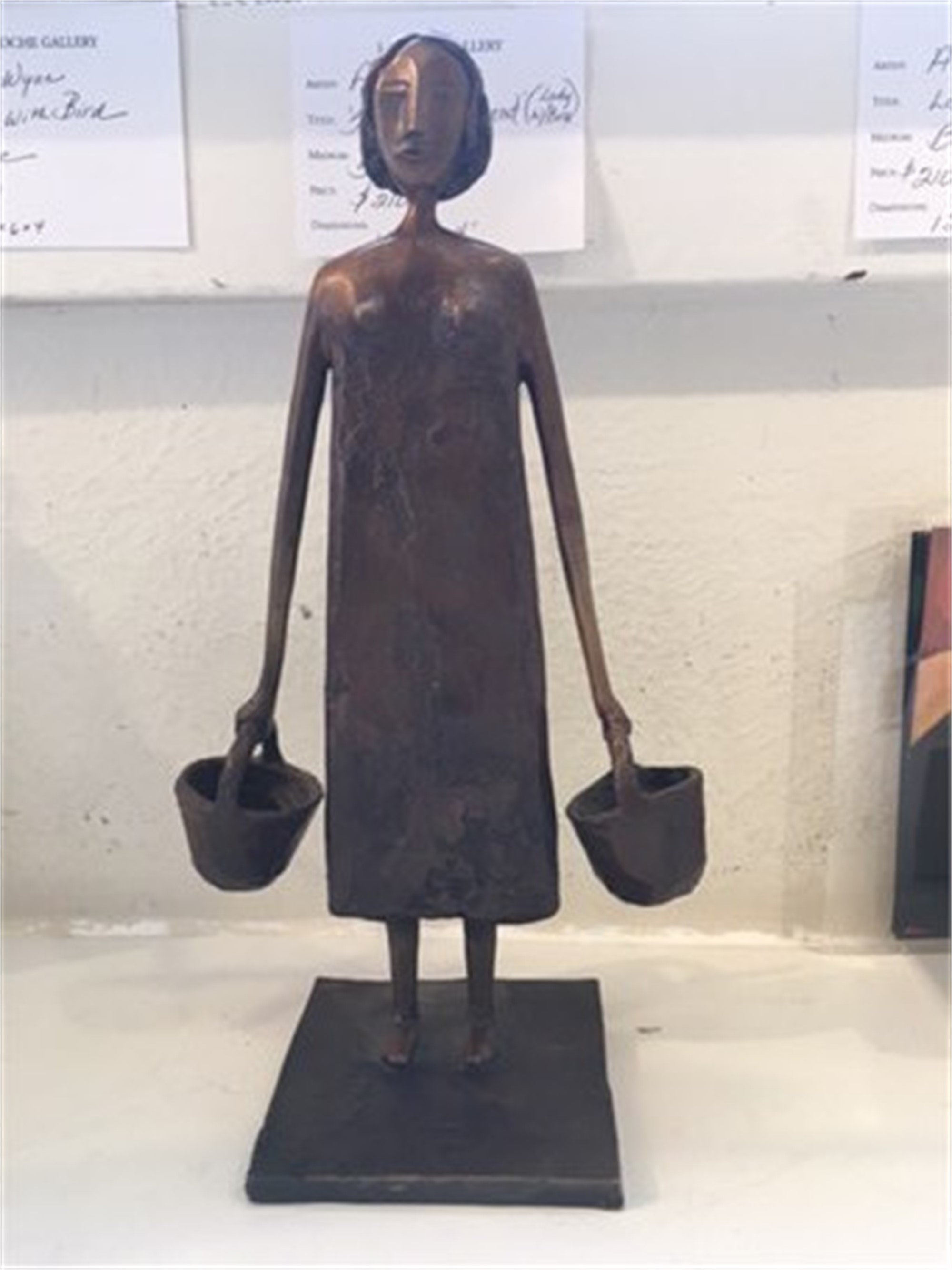 Lady with Buckets - Small by Allen Wynn
