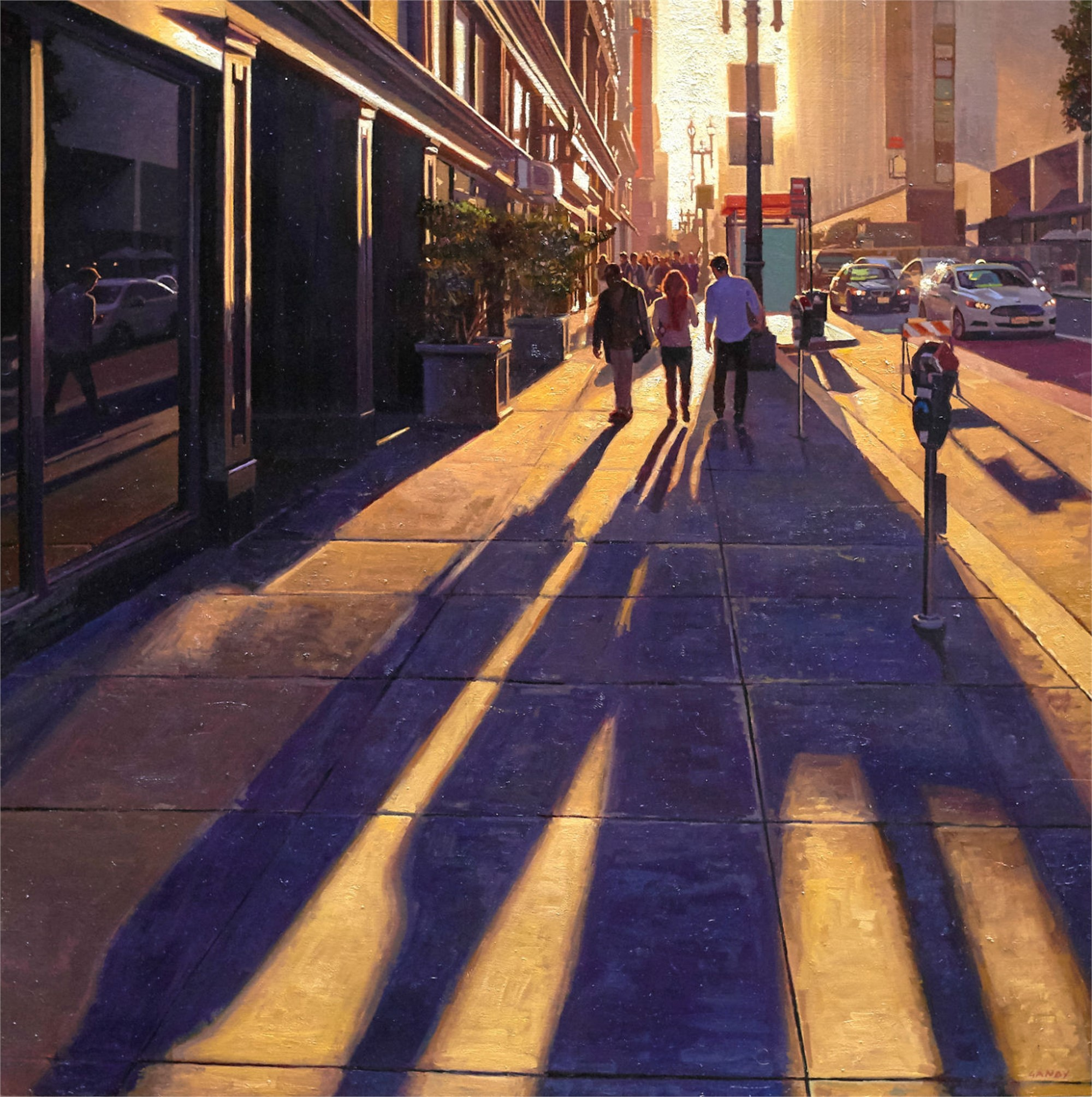 Long Shadows on Geary #2 by Greg Gandy
