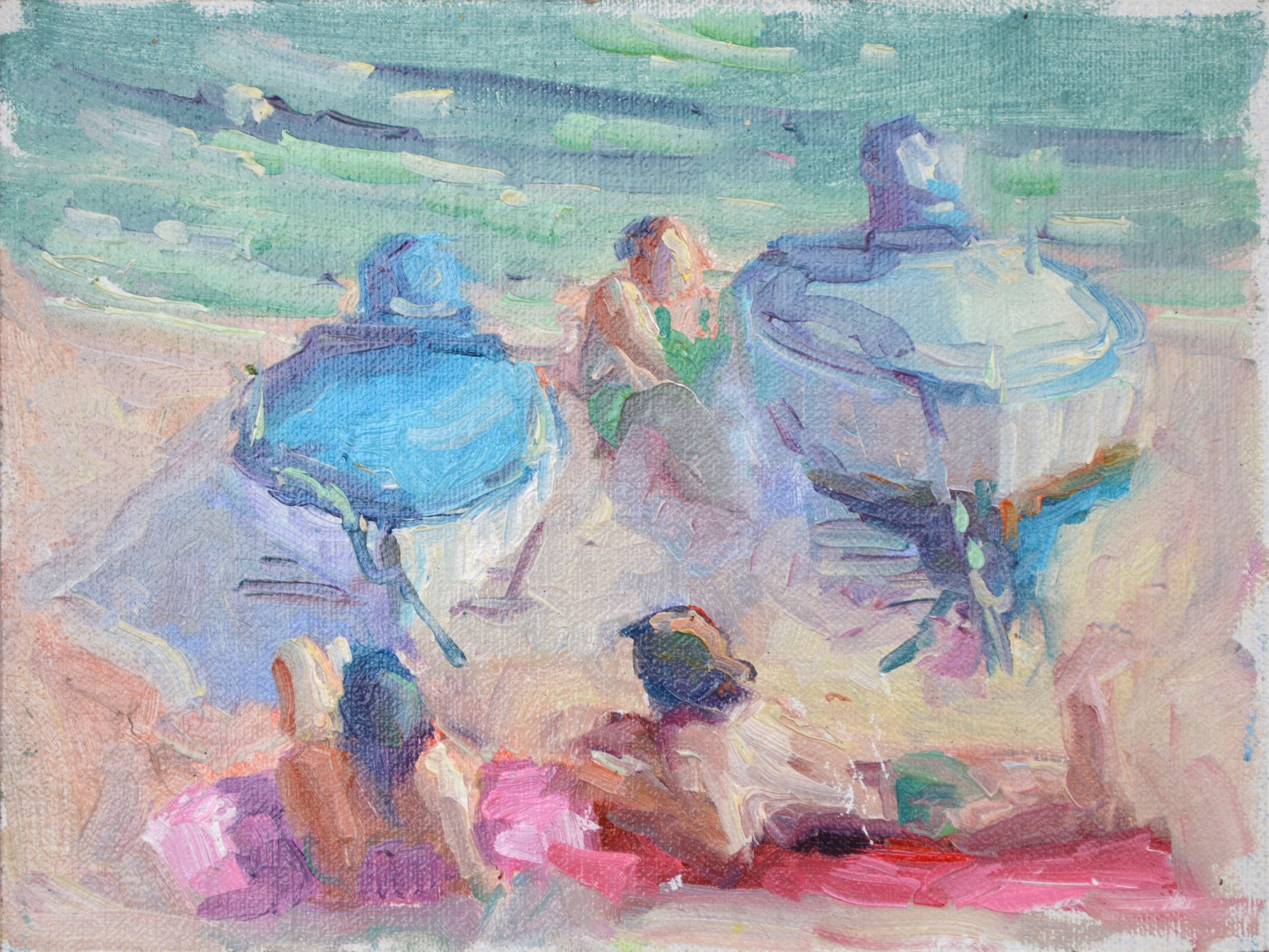 Day at the Beach in Spain by Karen Hewitt Hagan