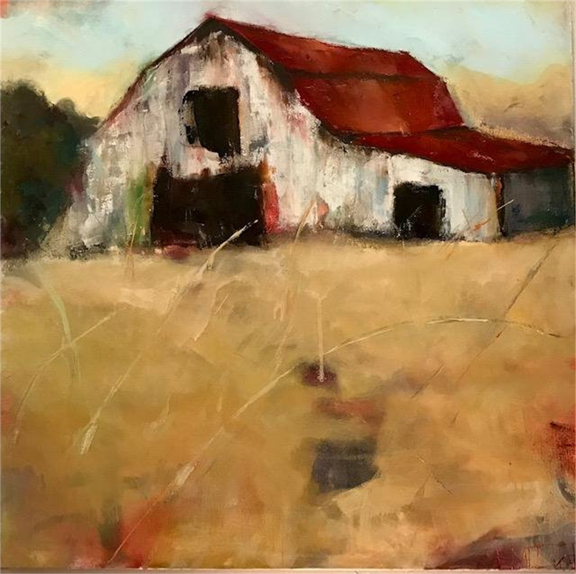 Red Roof, 2017 by Lisa Moore