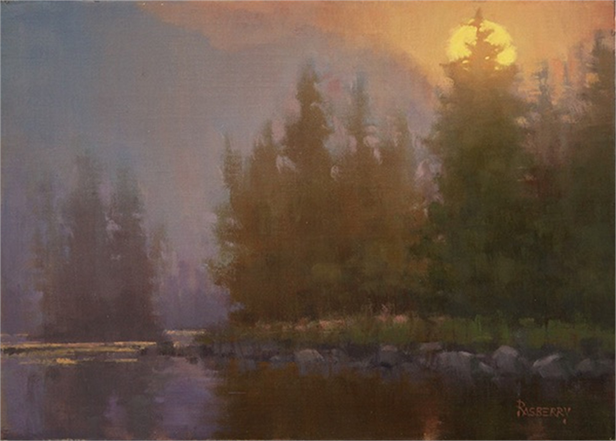 Sunrise through the Fog by John Rasberry