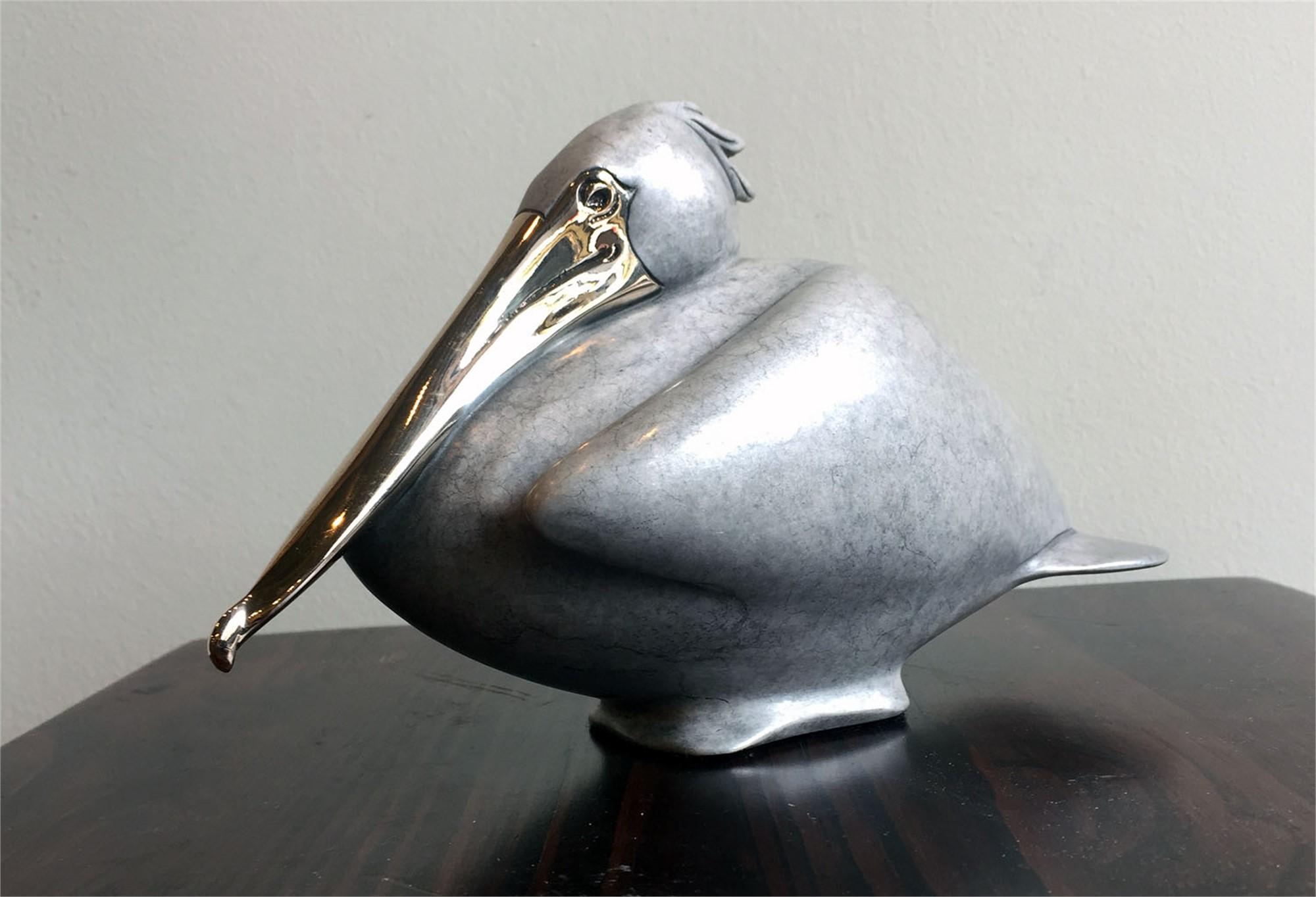 Nesting Pelican Grey (Med), 2017 by Brian Arthur