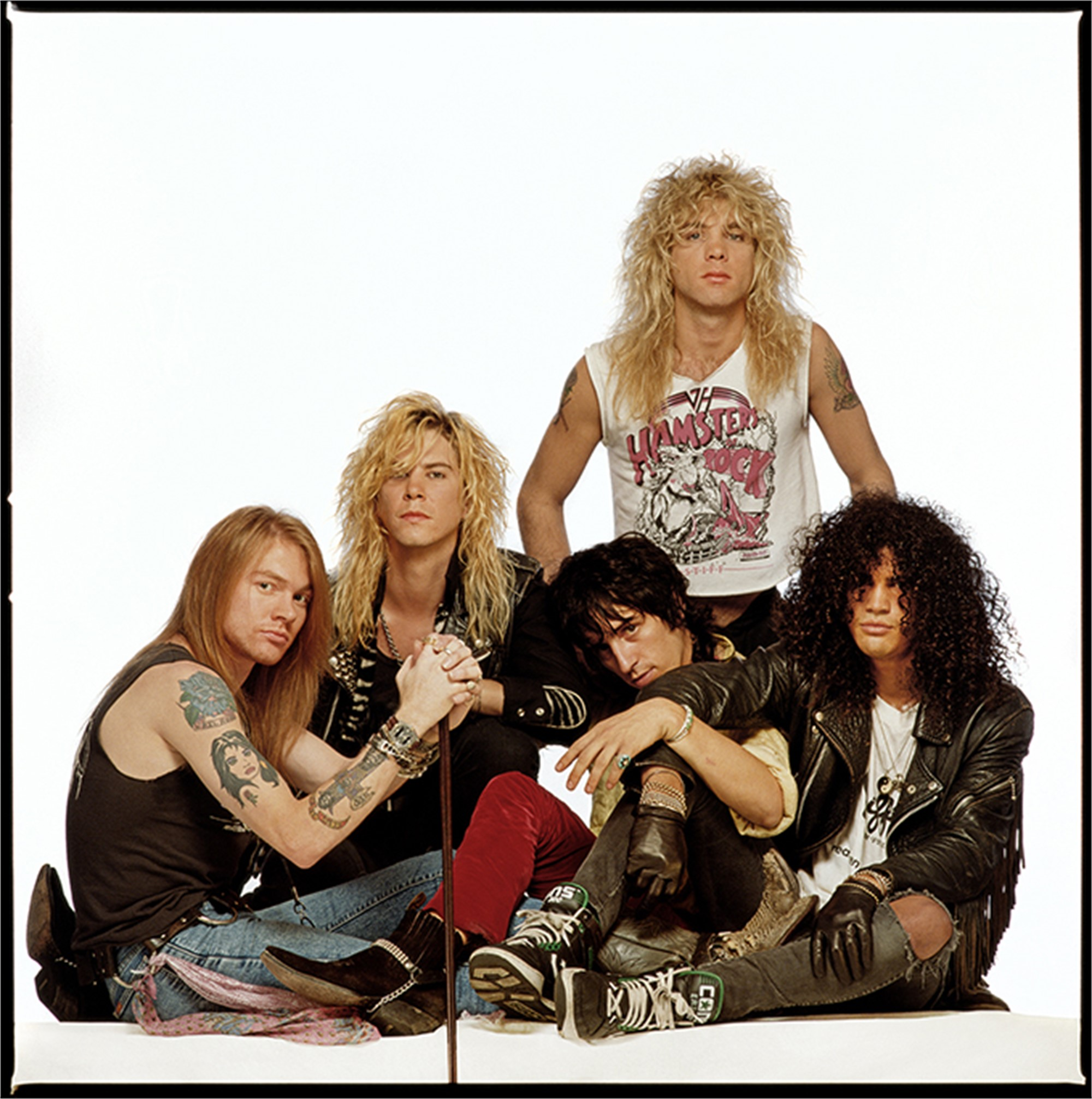 88138 Guns N Roses Rolling Stone Cover on White Color by Timothy White