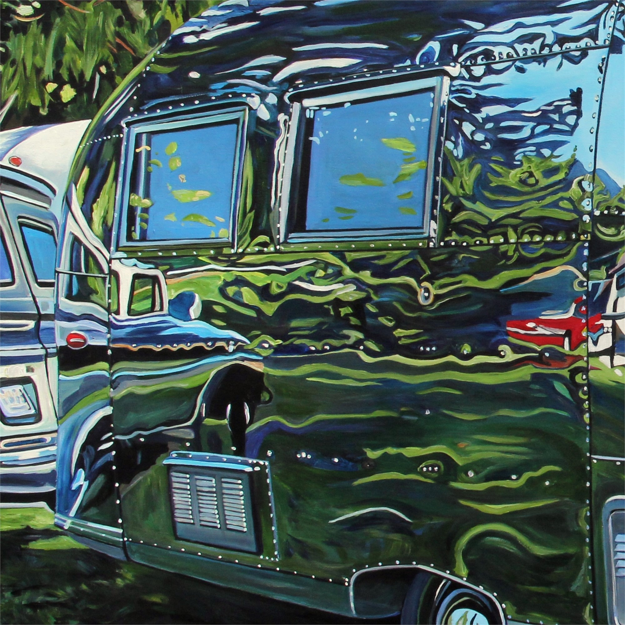 Warped Reflection BC Caravel Airstream  by Taralee Guild
