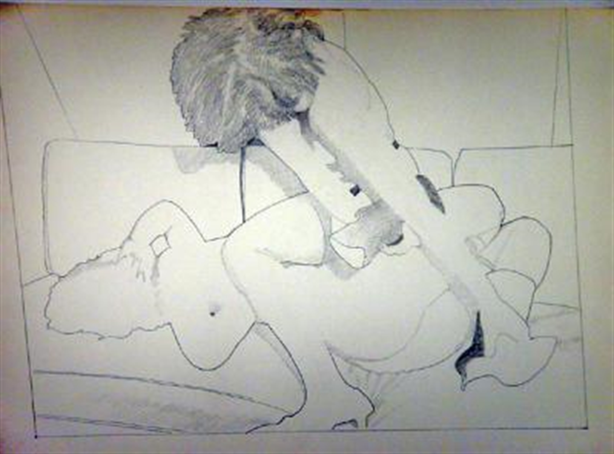 Two Girls Wrestling by David Chapin