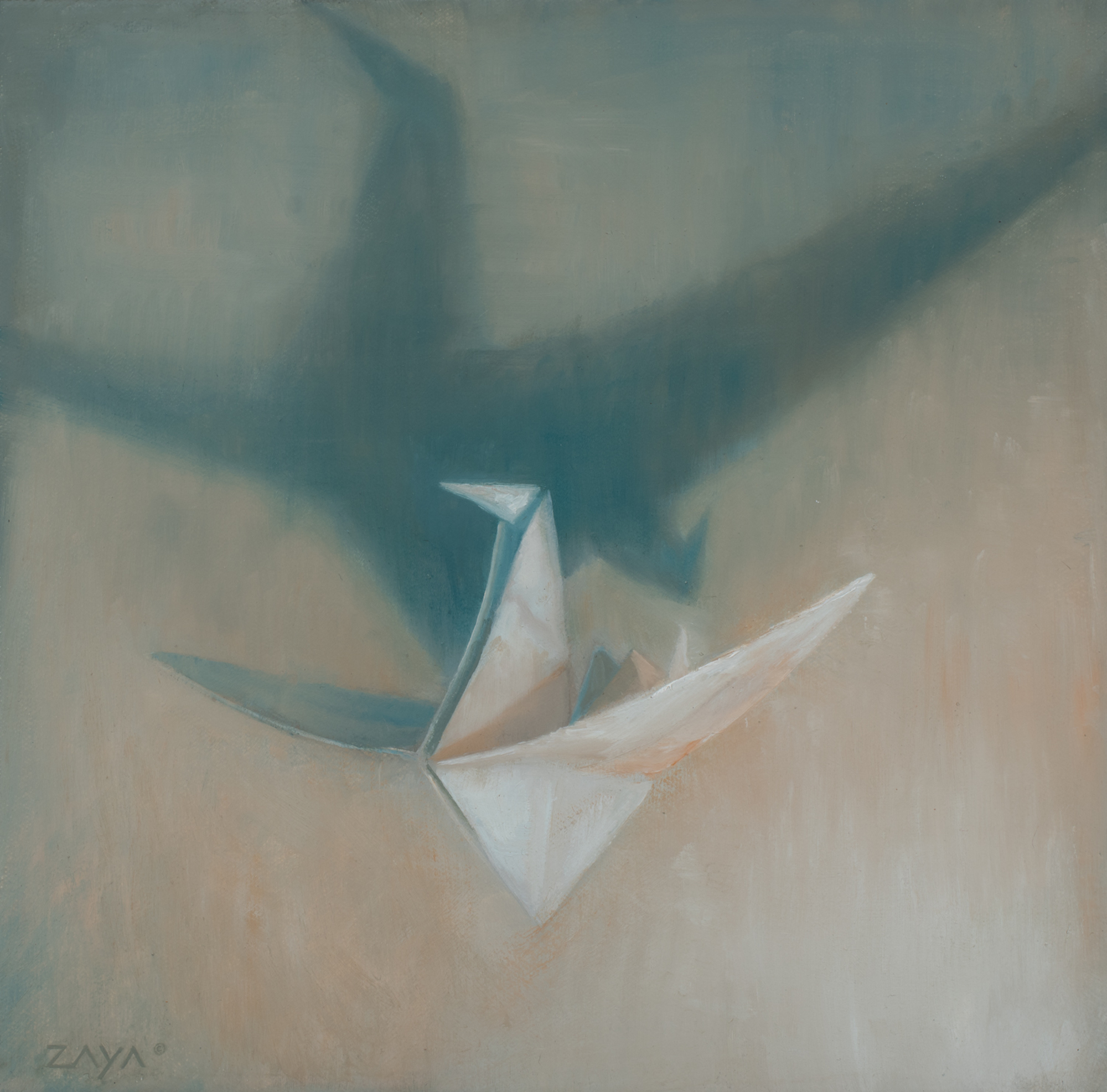 Paper Crane in Flight by Isaiah Ratterman