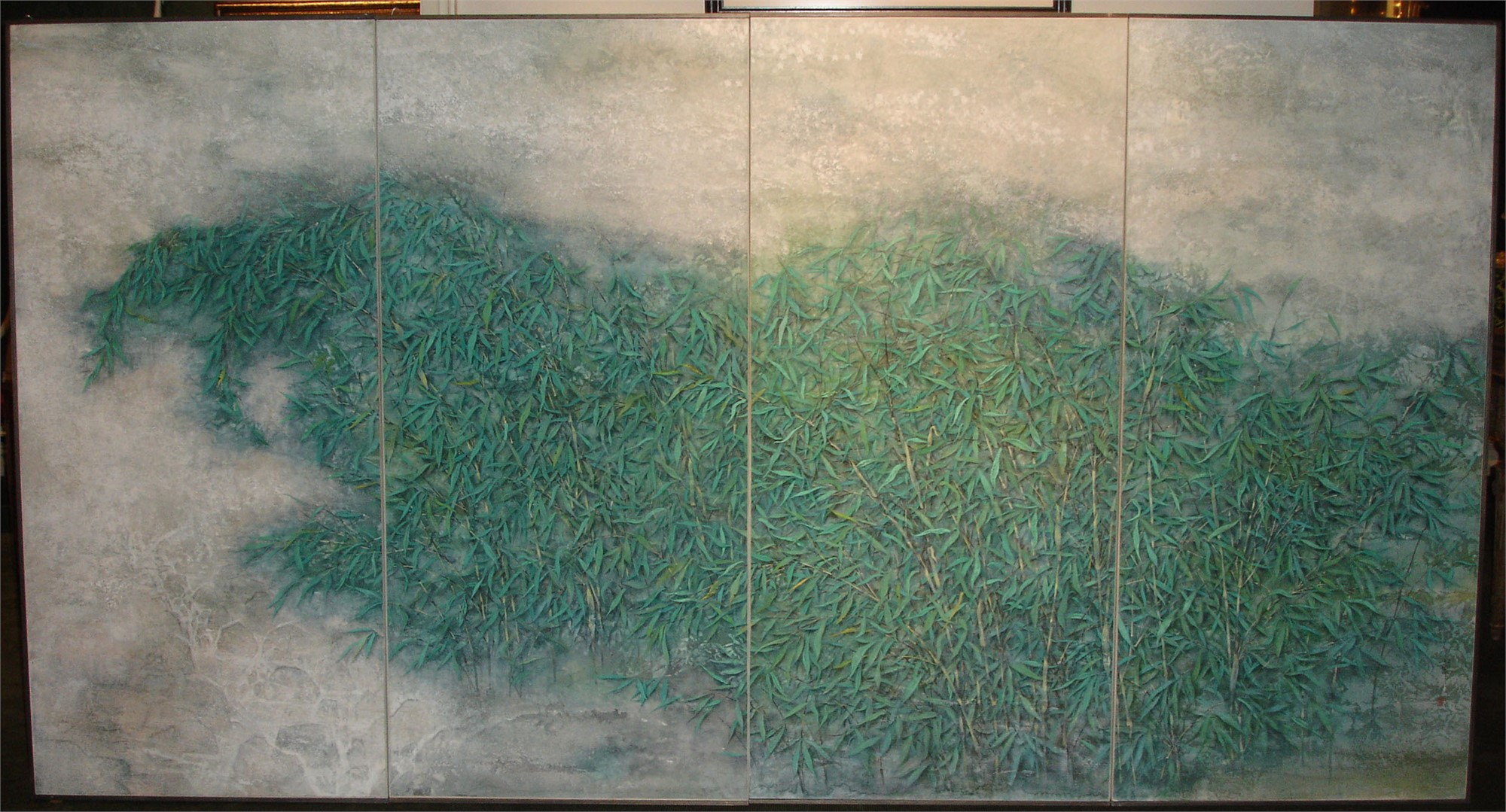 CHINESE PAINTING OF SPRING BAMBOO
