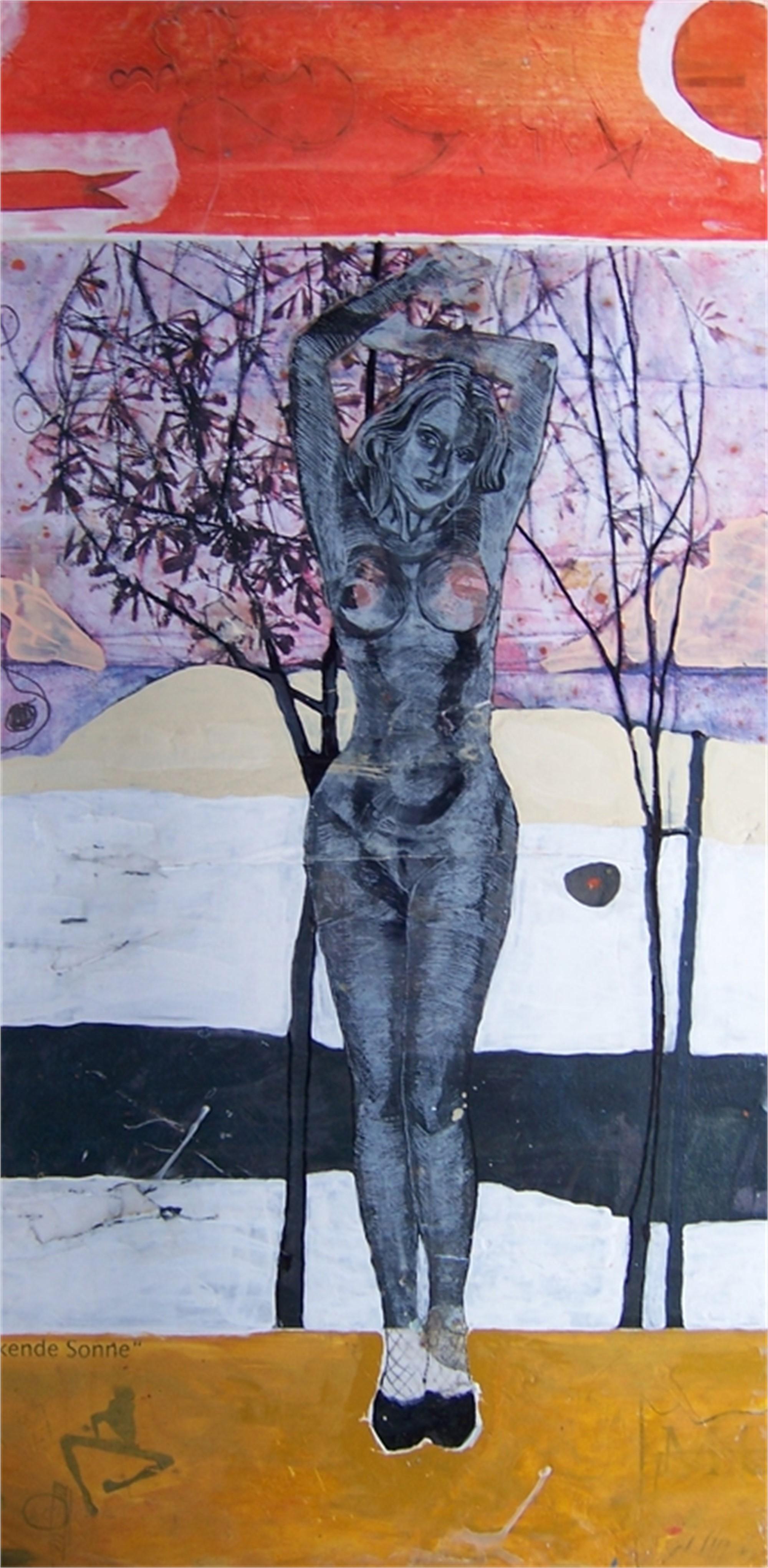 Sinkende Sonne by Hans Joerg Fuerpass