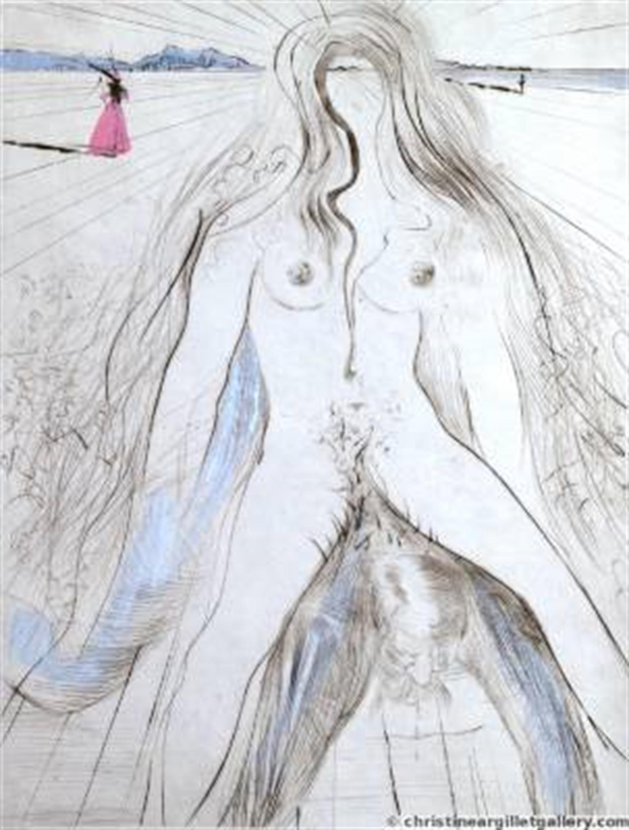 "Venus in Furs ""Woman on Horseback"" by Salvador Dali"