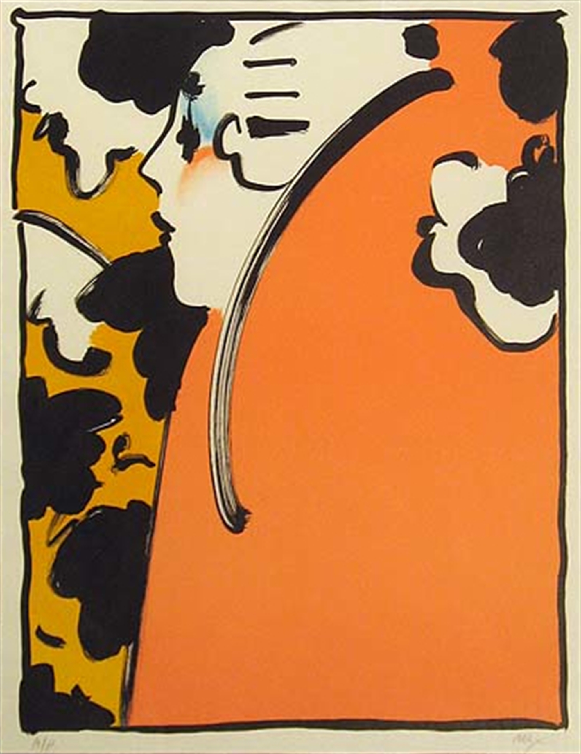 Peach Lady by Peter Max