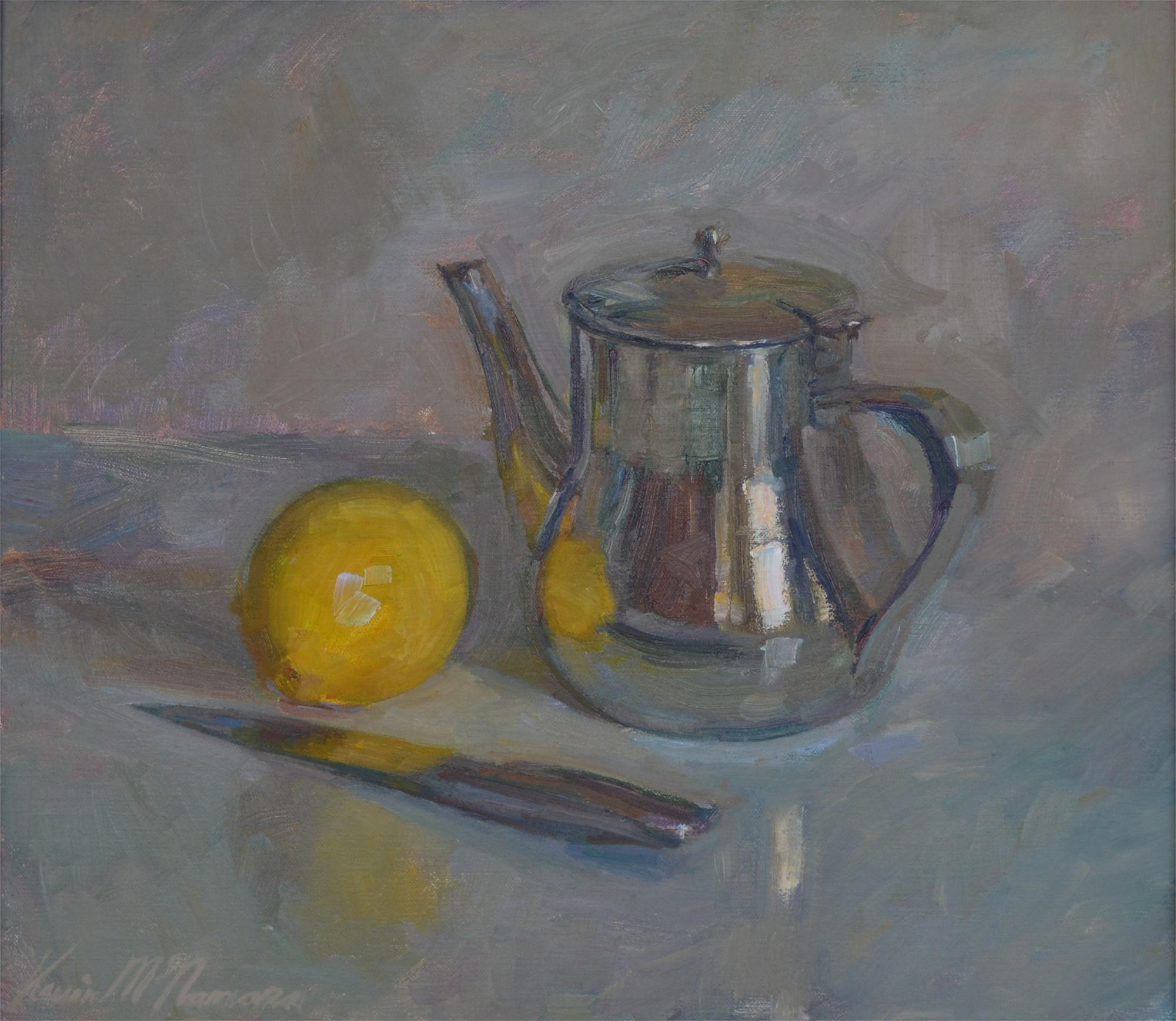 Still Life with Tea Pot and Lemon by Kevin McNamara