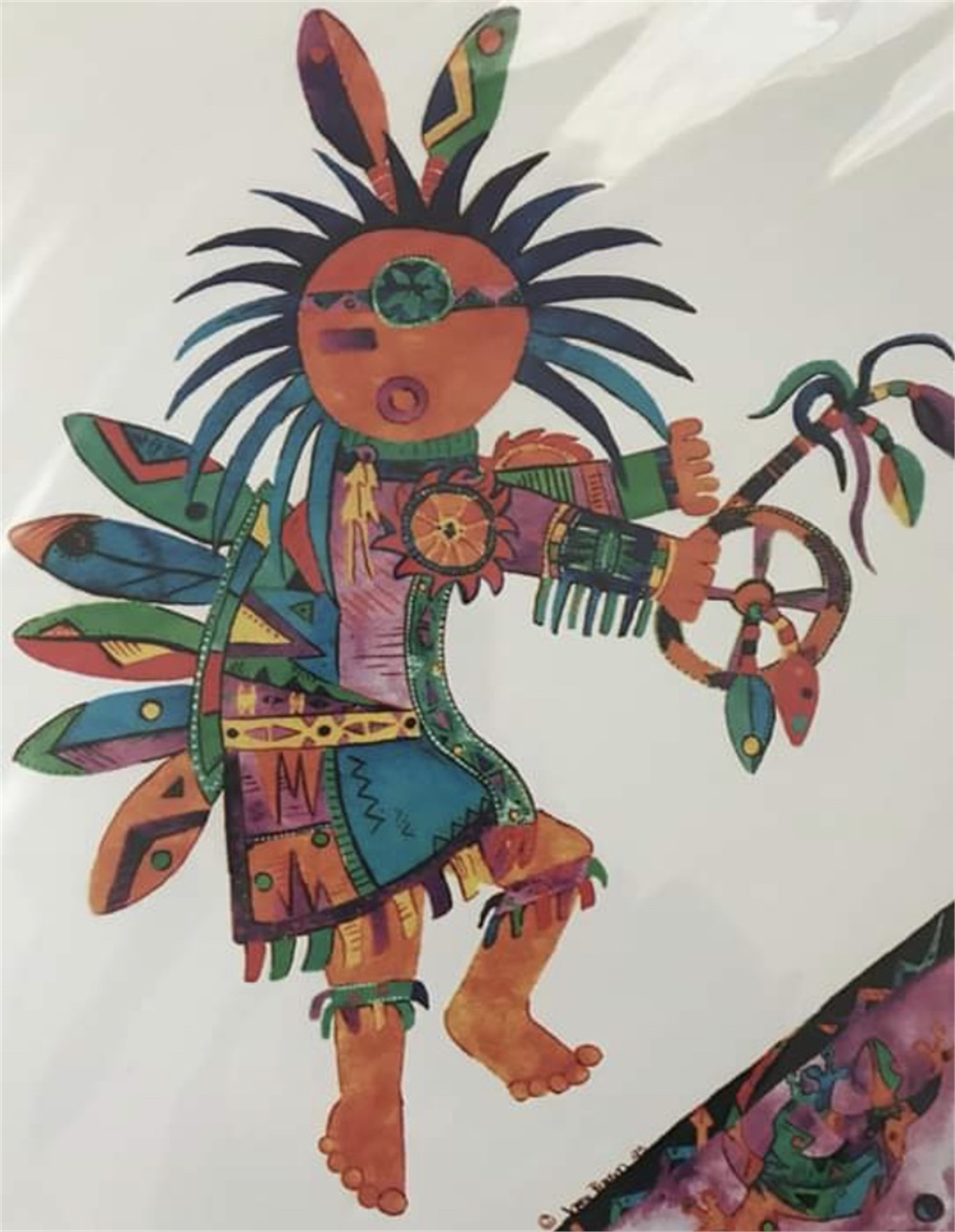 Kachina Spirit with Lizard by Jackie Hausman (McMinnville, OR)