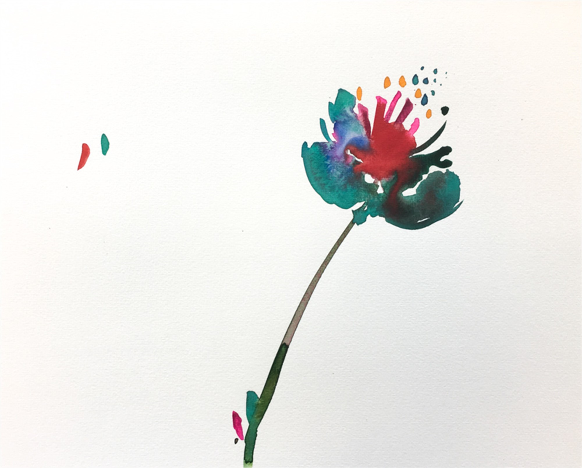 Floral Watercolor No. 4 by Christian Rothmann