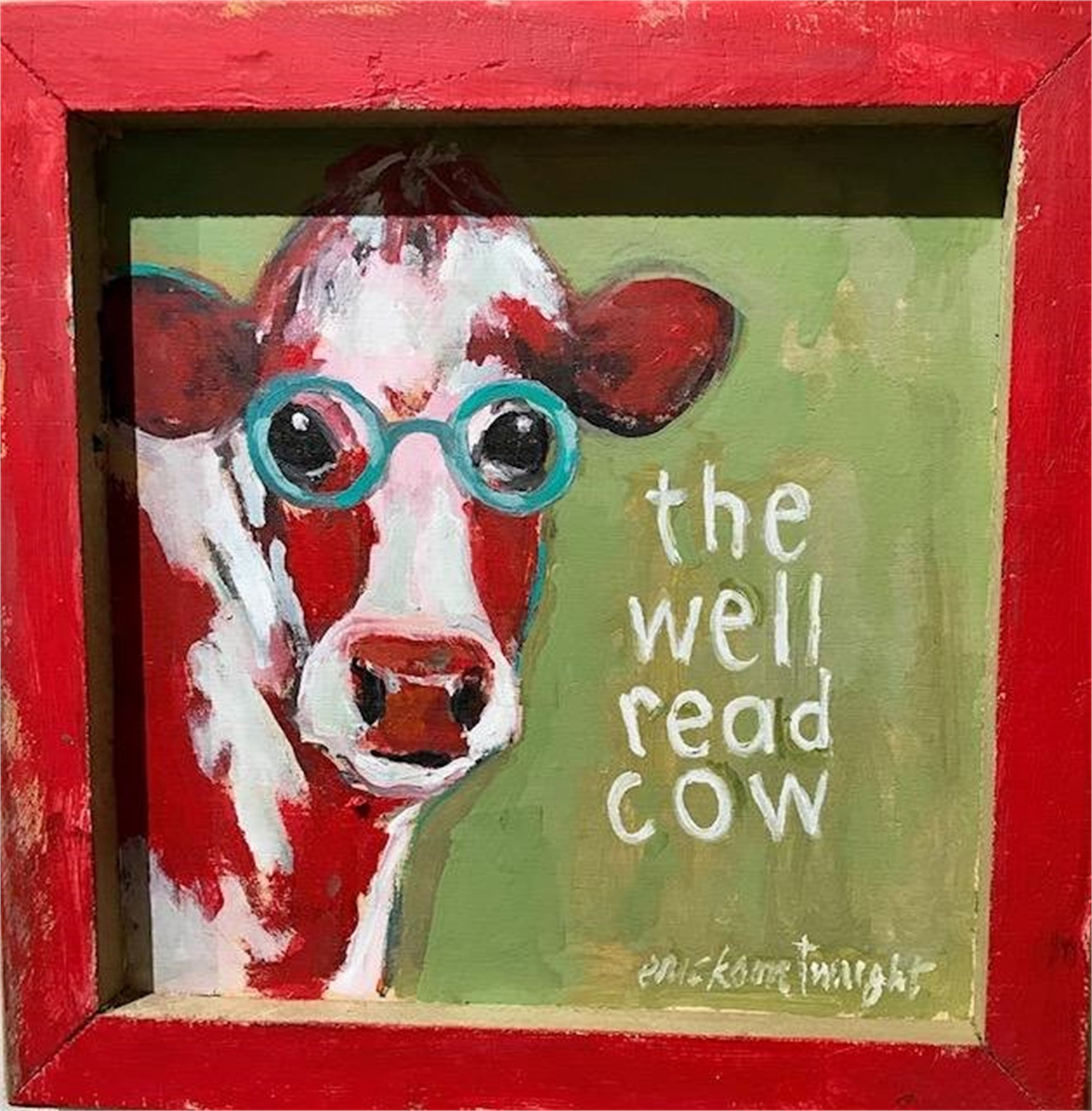 Well read cow by Sandra Erickson Wright
