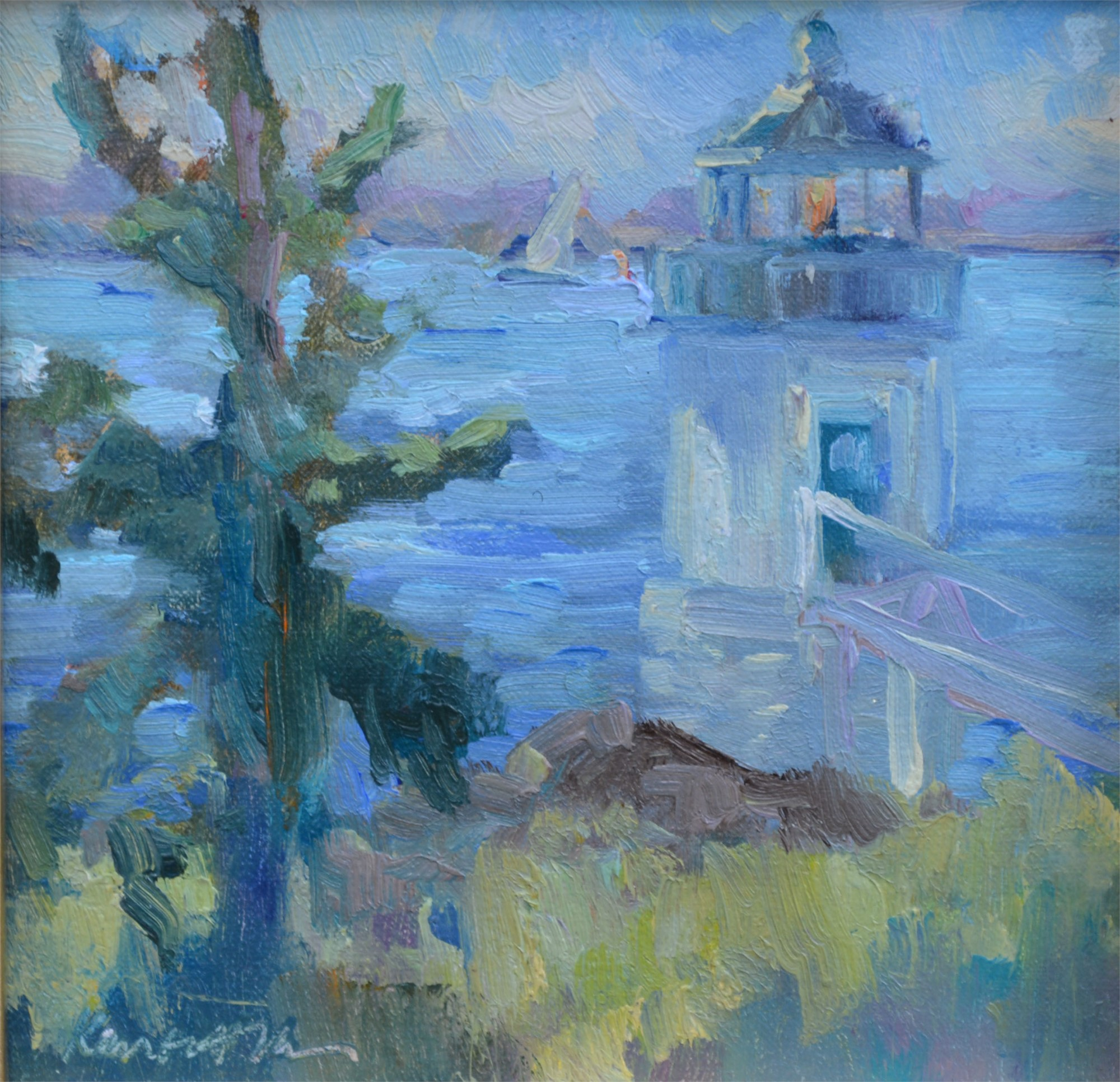 Lighthouse, Maine by Karen Hewitt Hagan