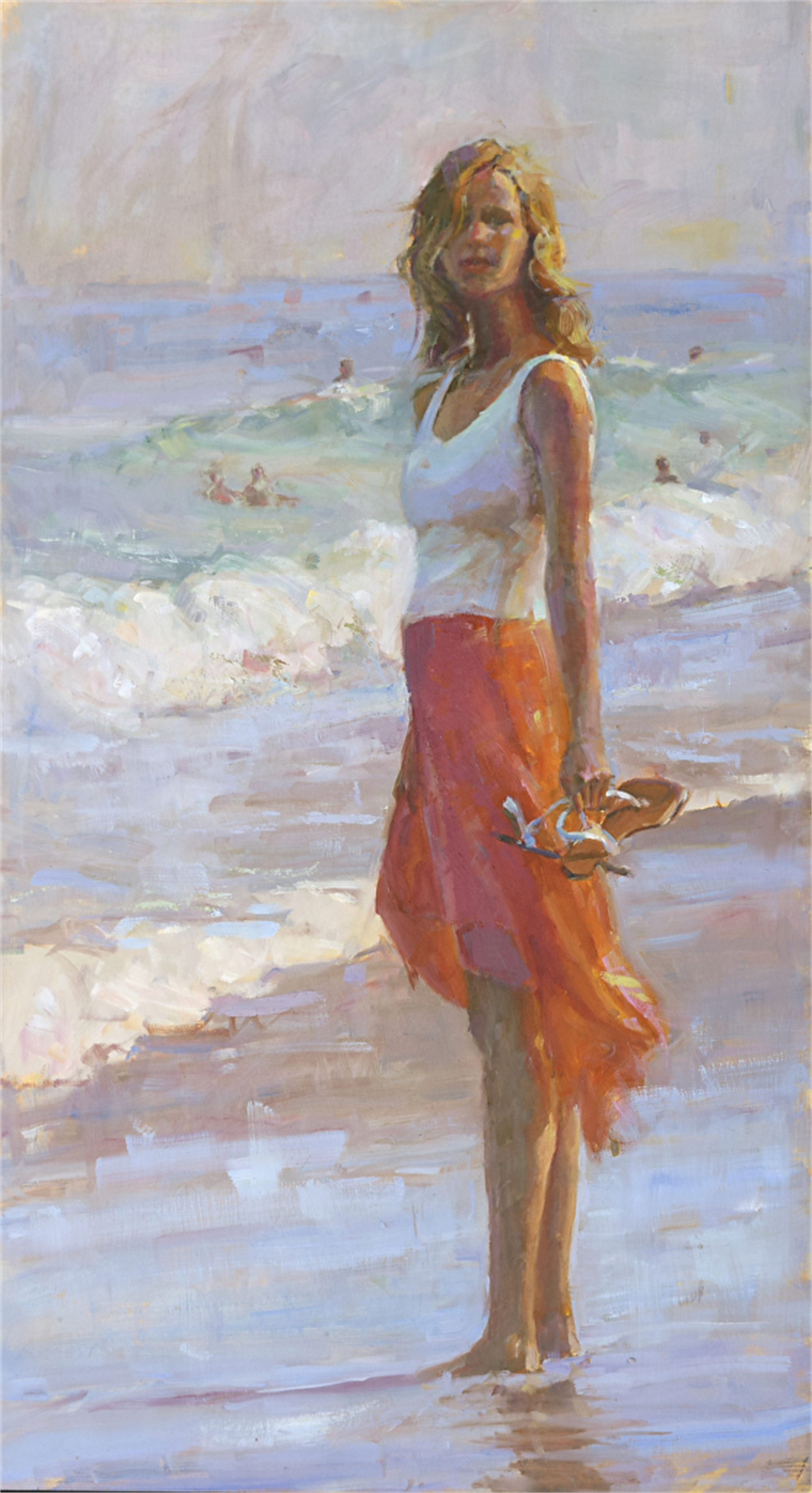 Girl With the Bright Orange Skirt by Nicole White Kennedy